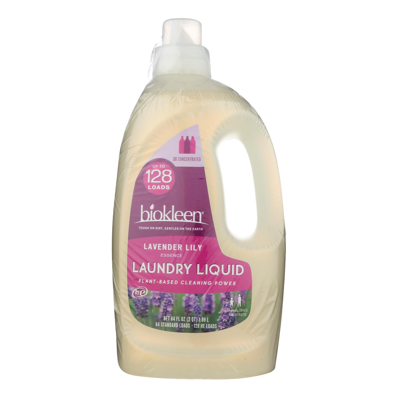 Biokleen - Laundry Liquid Lavender Lily - Case of 6 - 64 FZ