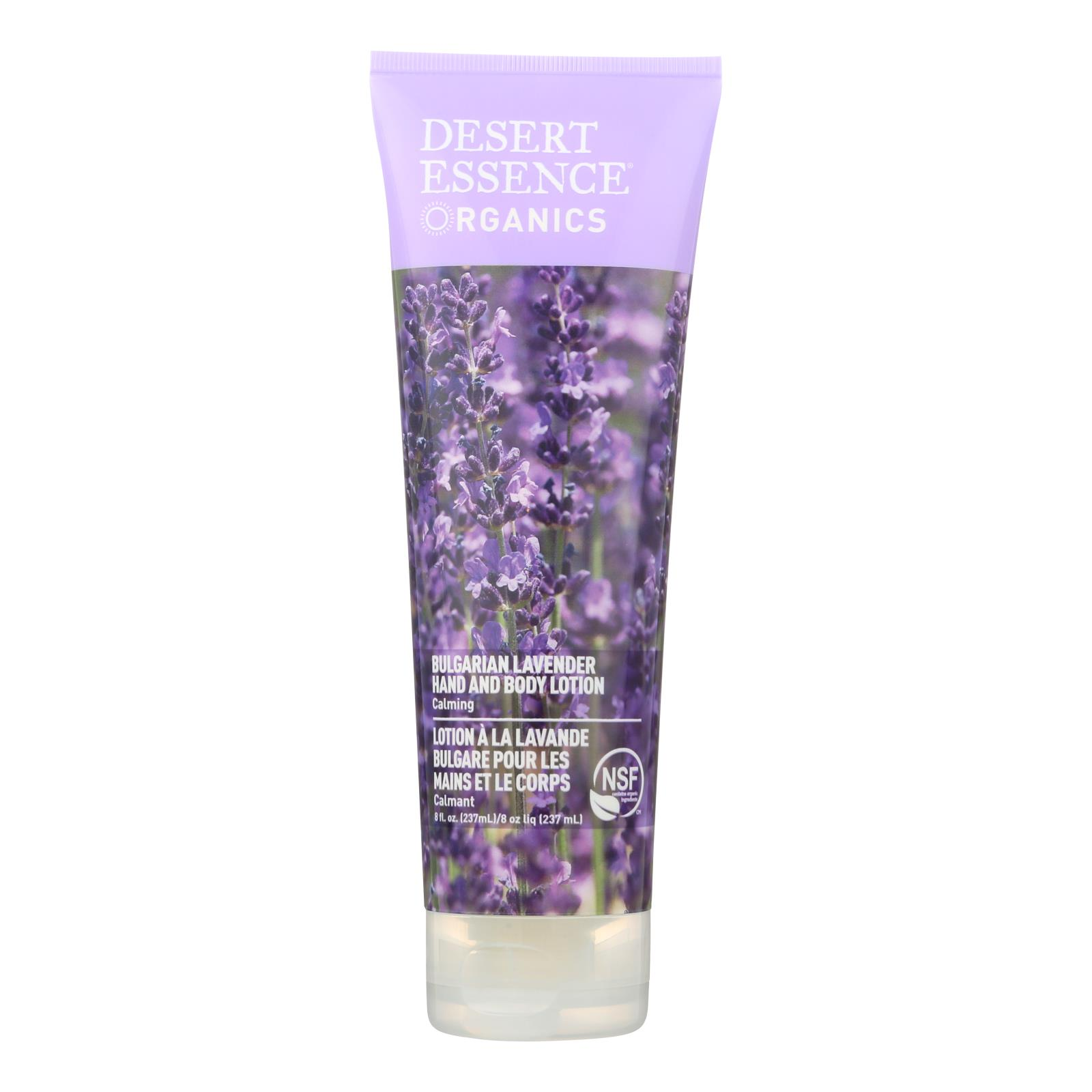 Desert Essence - Hand and Body Lotion Bulgarian Lavender - 8 fl oz