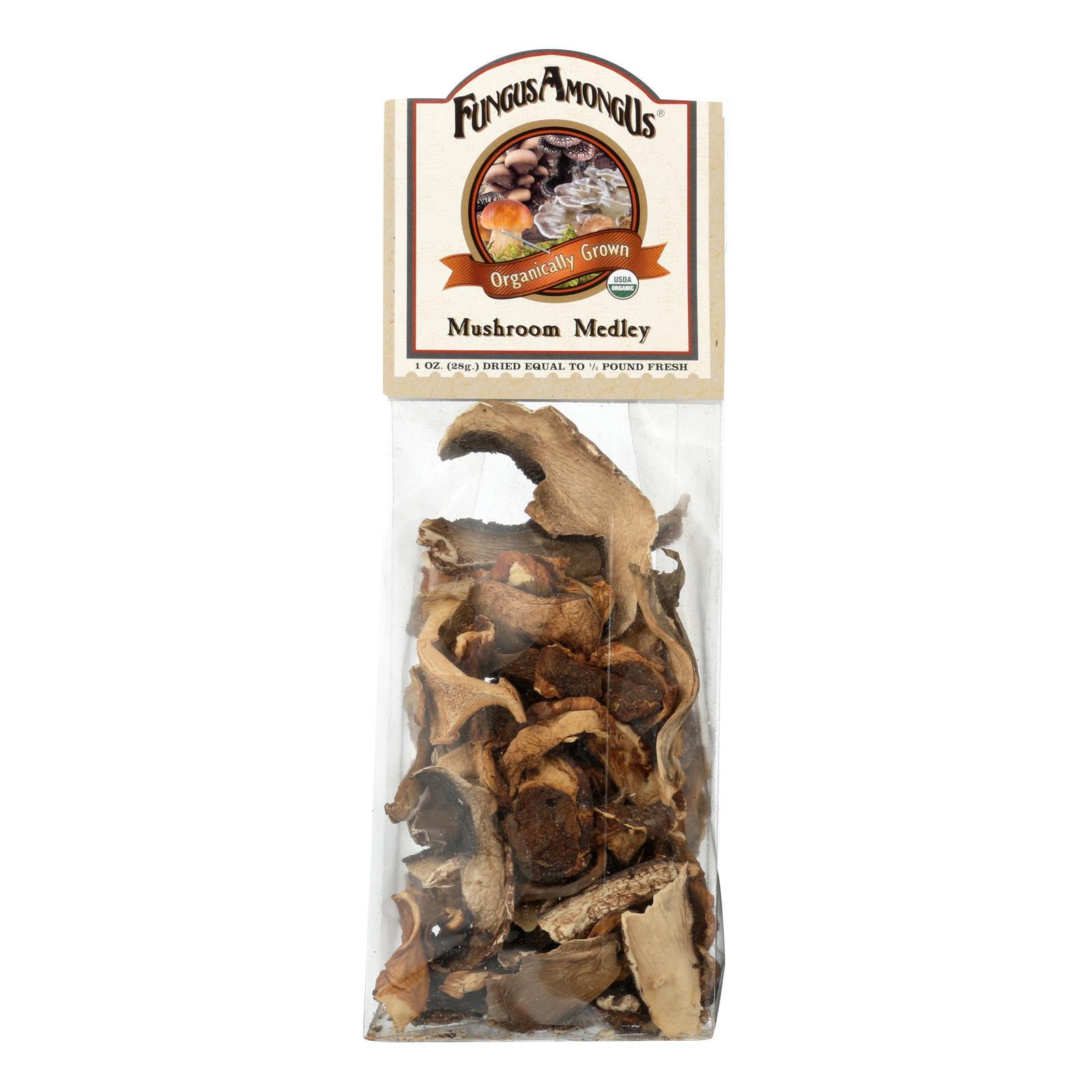 Fungus Among Us Organic Mushroom Medley - Medley - Case of 8 - 1 oz.
