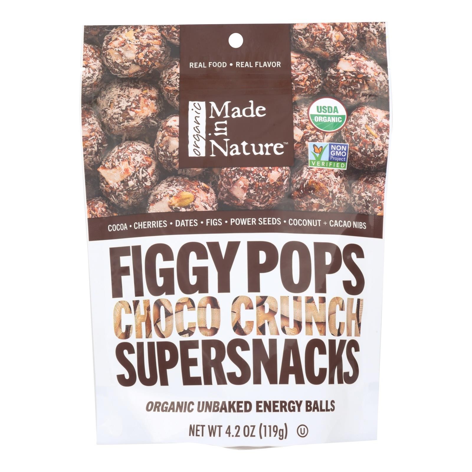 Made in Nature Figgy Pops - Choco Crunch - Case of 6 - 4.2 oz