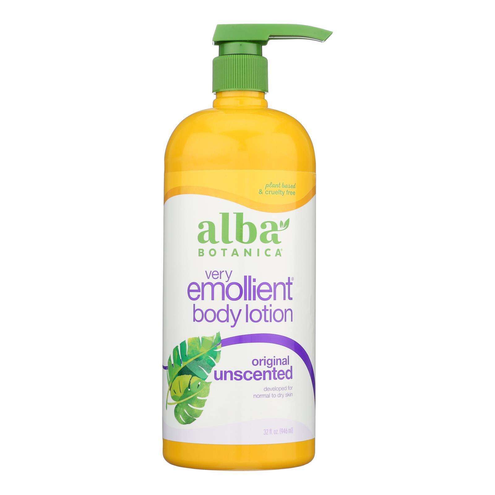 Alba Botanica - Very Emollient Body Lotion - Unscented - 32 fl oz
