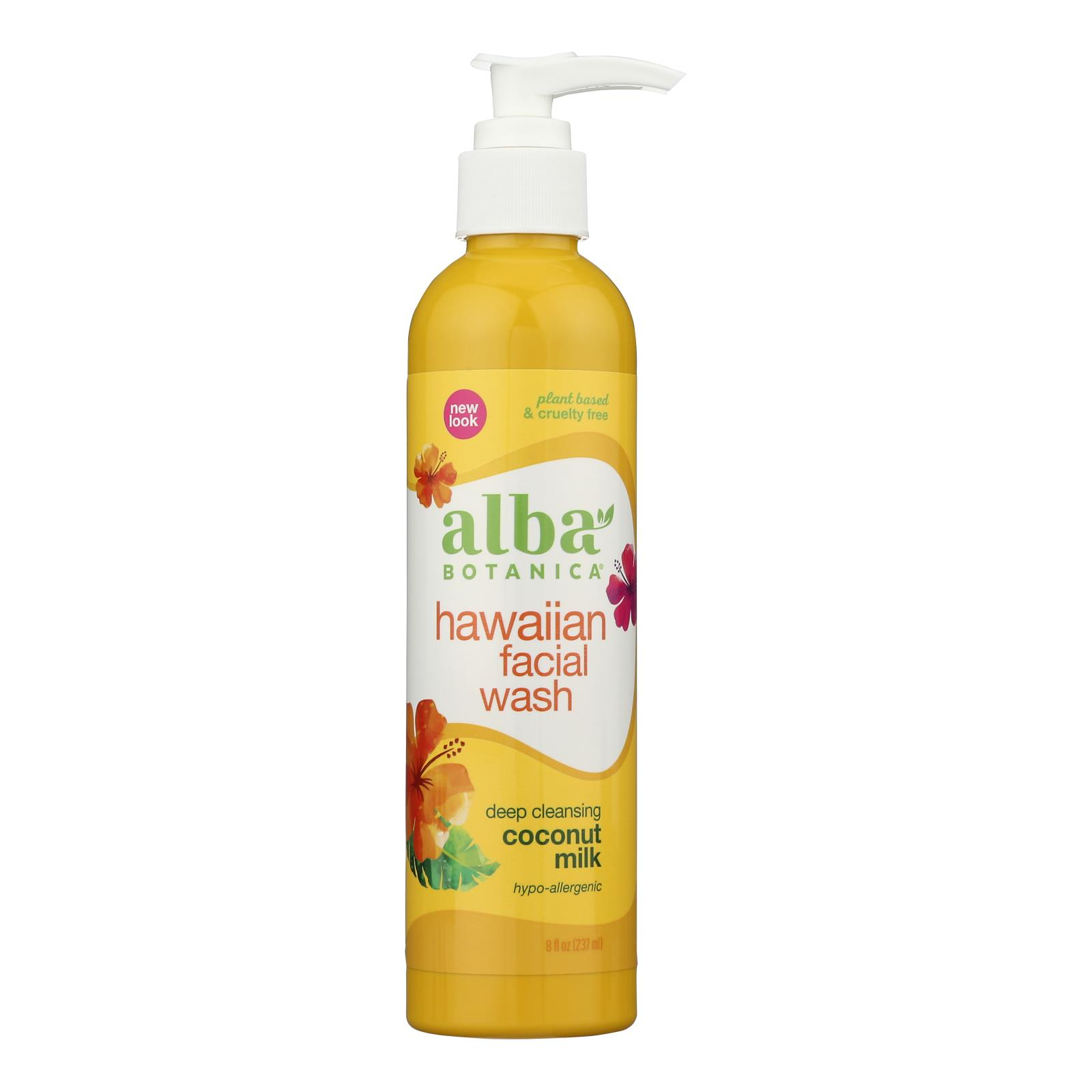Alba Botanica - Hawaiian Facial Wash Coconut Milk - 8 fl oz