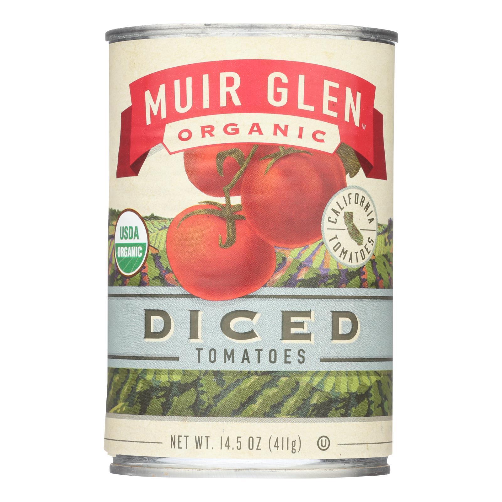 Muir Glen Organic Tomatoes Diced - Tomatoes - Case of 12 - 14.5 oz.