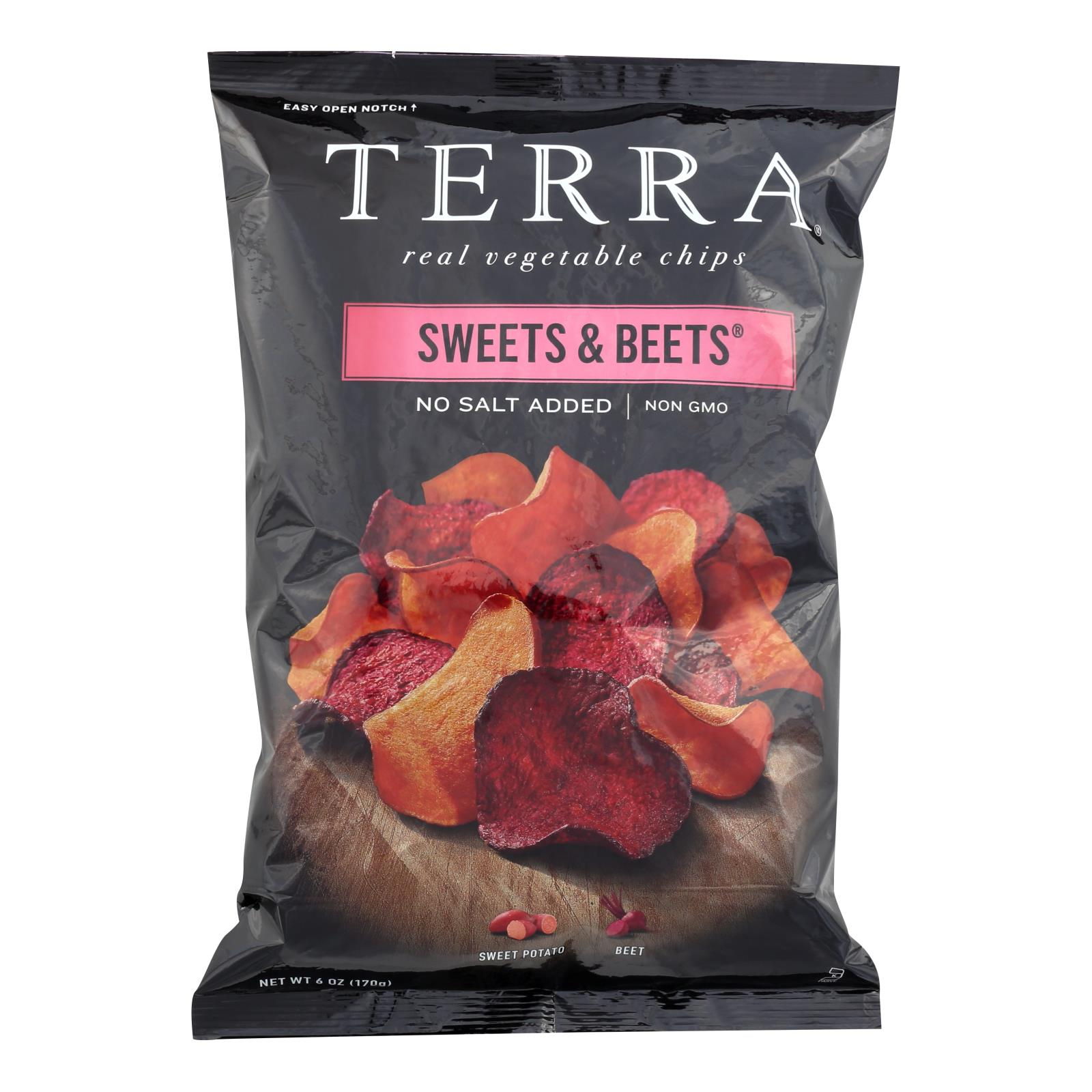 Terra Chips Sweet Potato Chips - Sweets and Beets - Case of 12 - 6 oz.