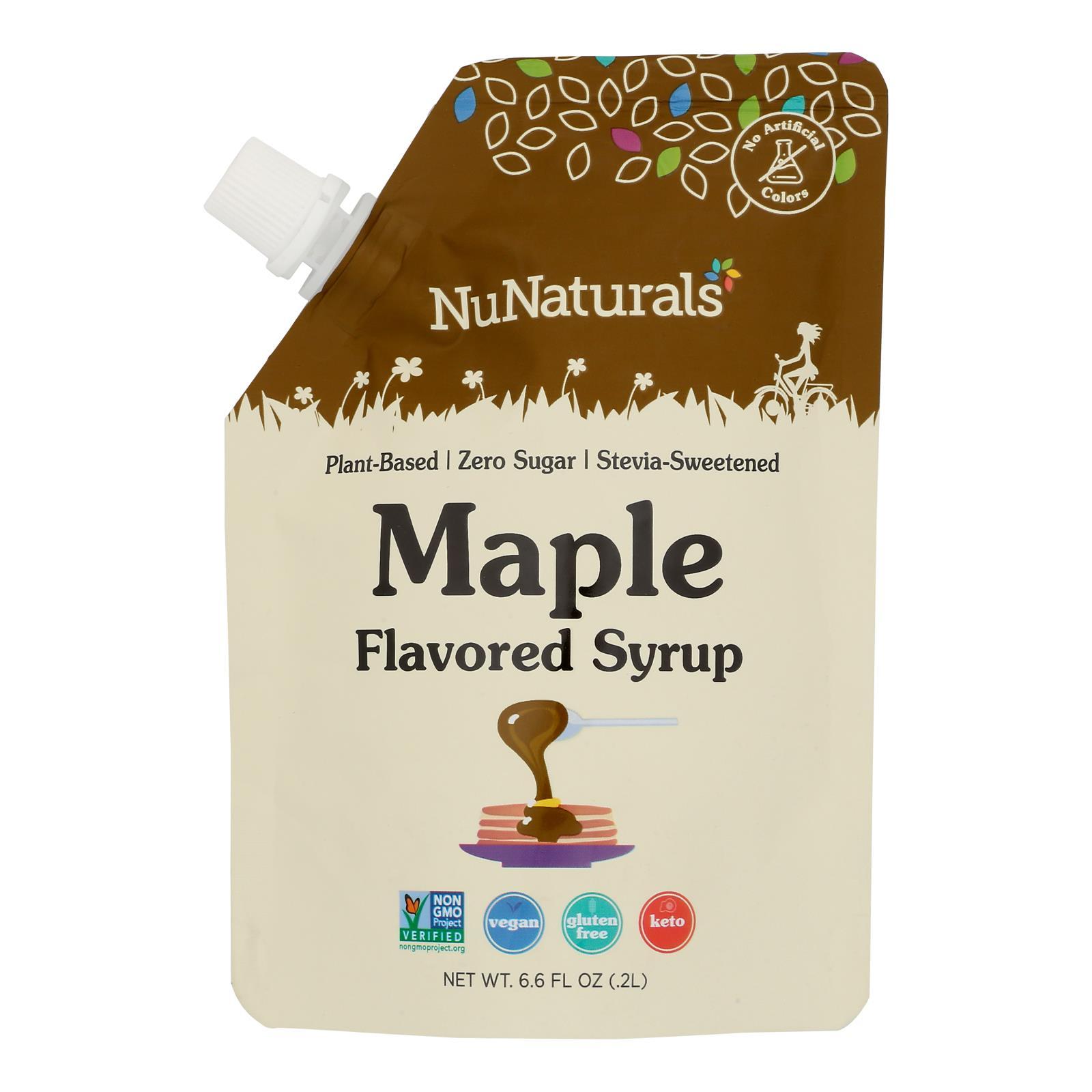 Nunaturals - Maple Flav Syrup Pourable - 1 Each - 6.6 OZ