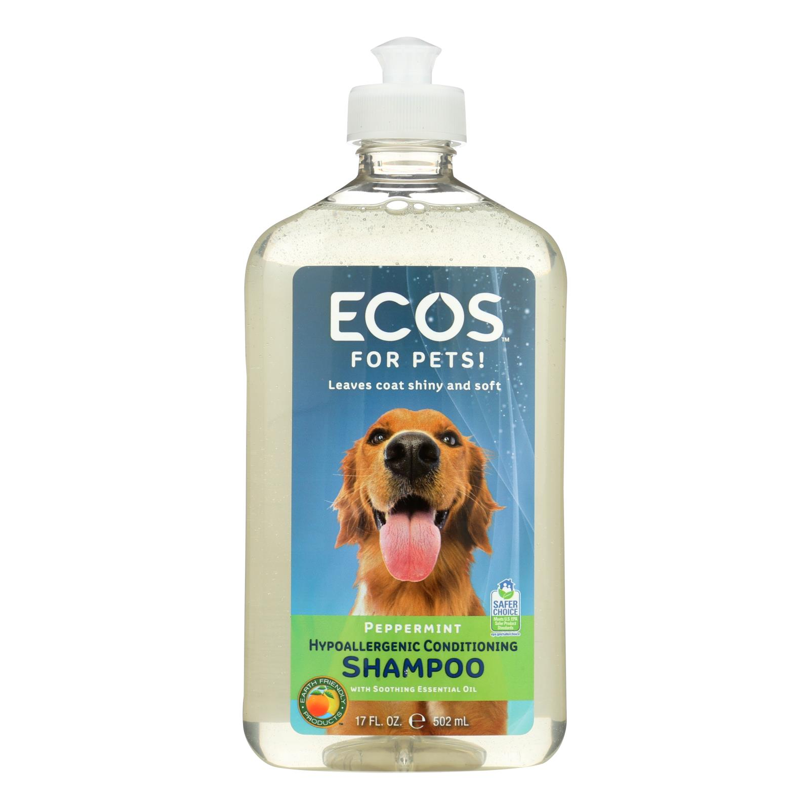 ECOS - Hypoallergenic Conditioning Pet Shampoo - Peppermint - 17 fl oz.