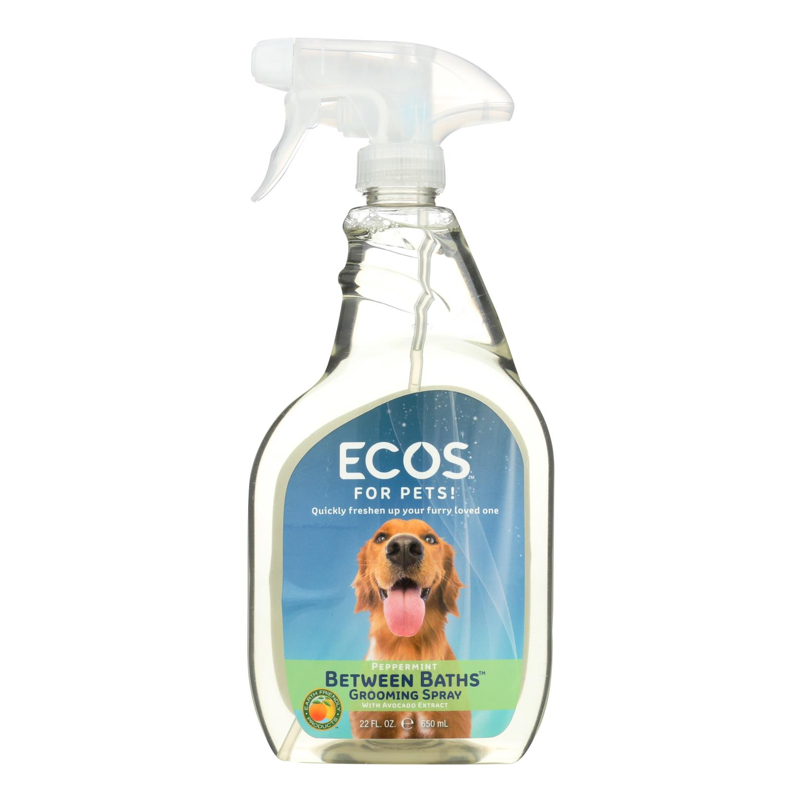 Ecos For Pets! Between Baths Grooming Spray  - Case of 6 - 22 OZ