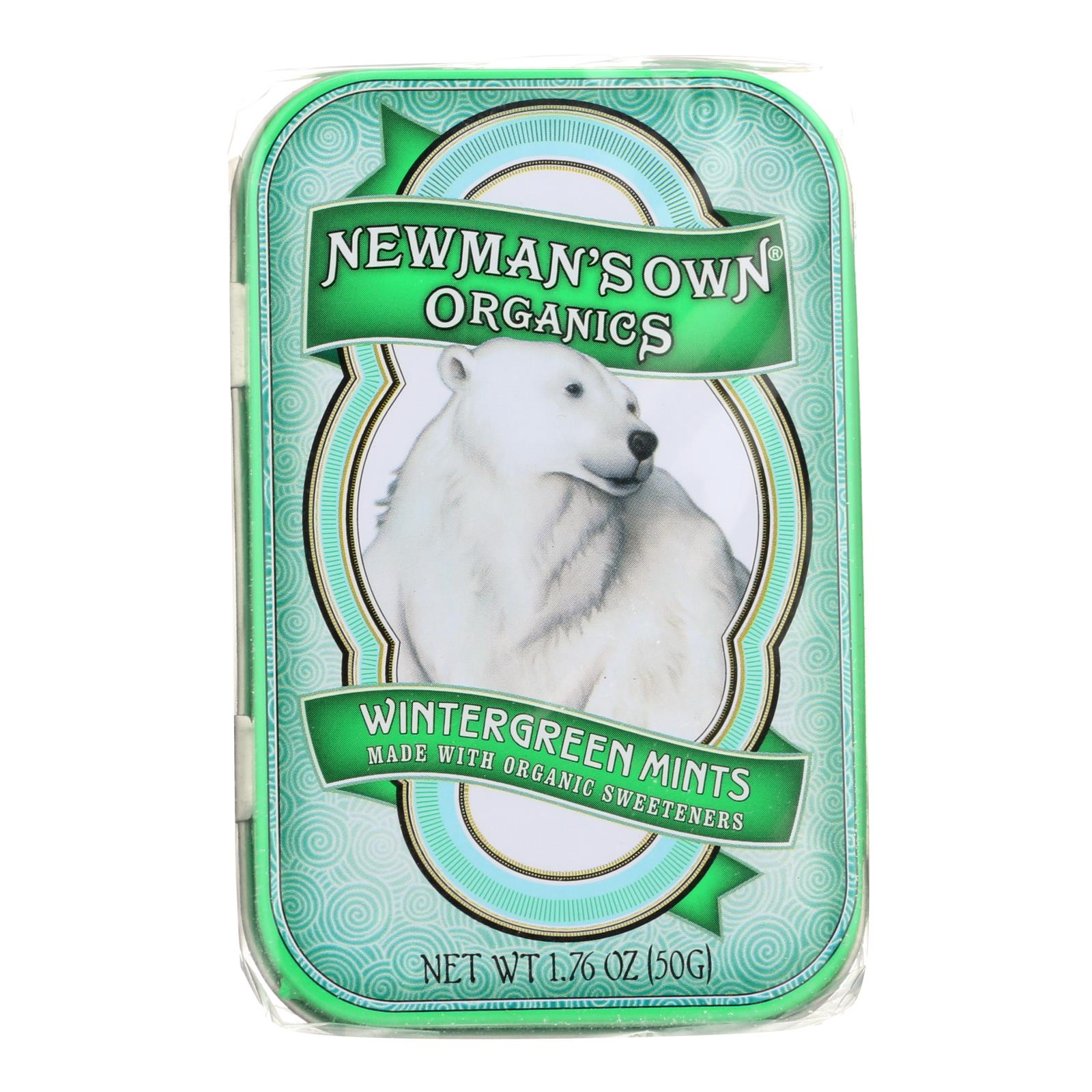 Newman's Own Organics Mints - Organic - Wintergreen - 1.65 oz - Case of 6