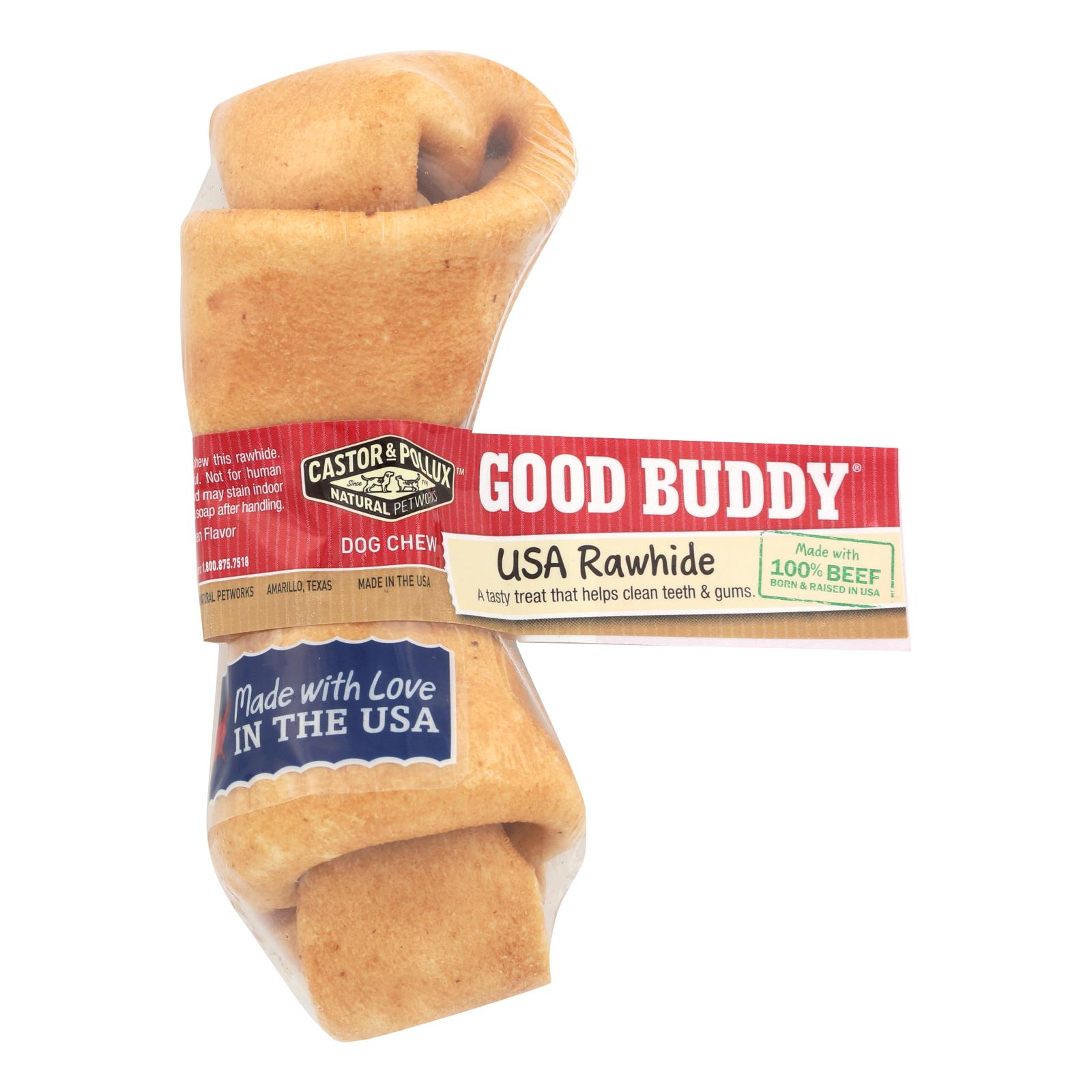 Castor and Pollux Good Buddy Rawhide Bone Dog Treat - Case of 24