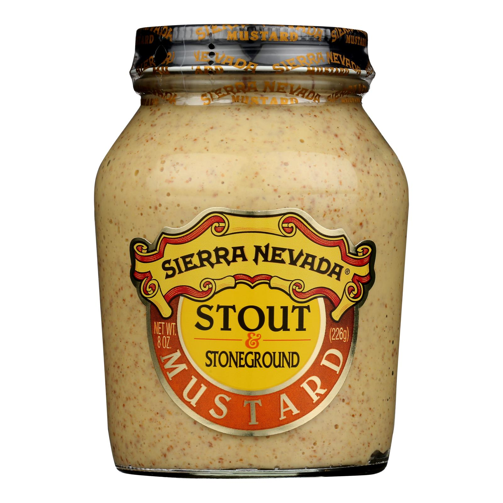 Sierra Nevada Specialty Food Mustard - Porter and Spicy Brown - Case of 6 - 8 oz.