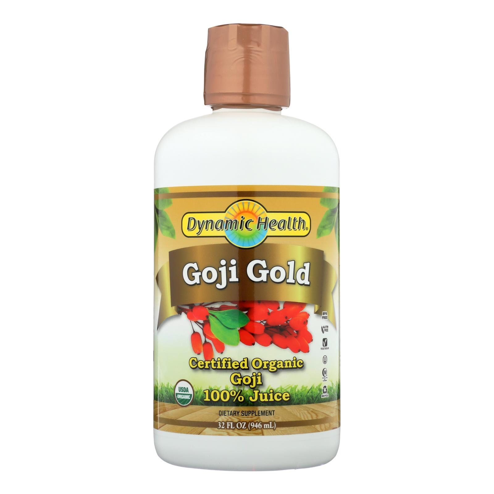 Dynamic Health Organic Certified Goji Berry Gold Juice - 32 fl oz