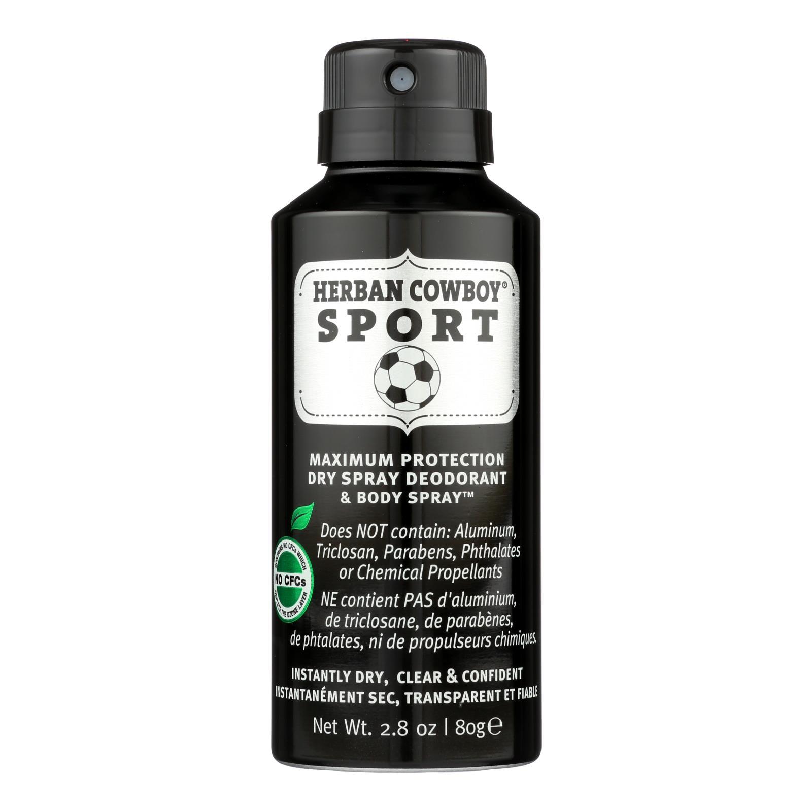 Herban Cowboy - Spray Dry Sport - 1 Each - 2.8 OZ