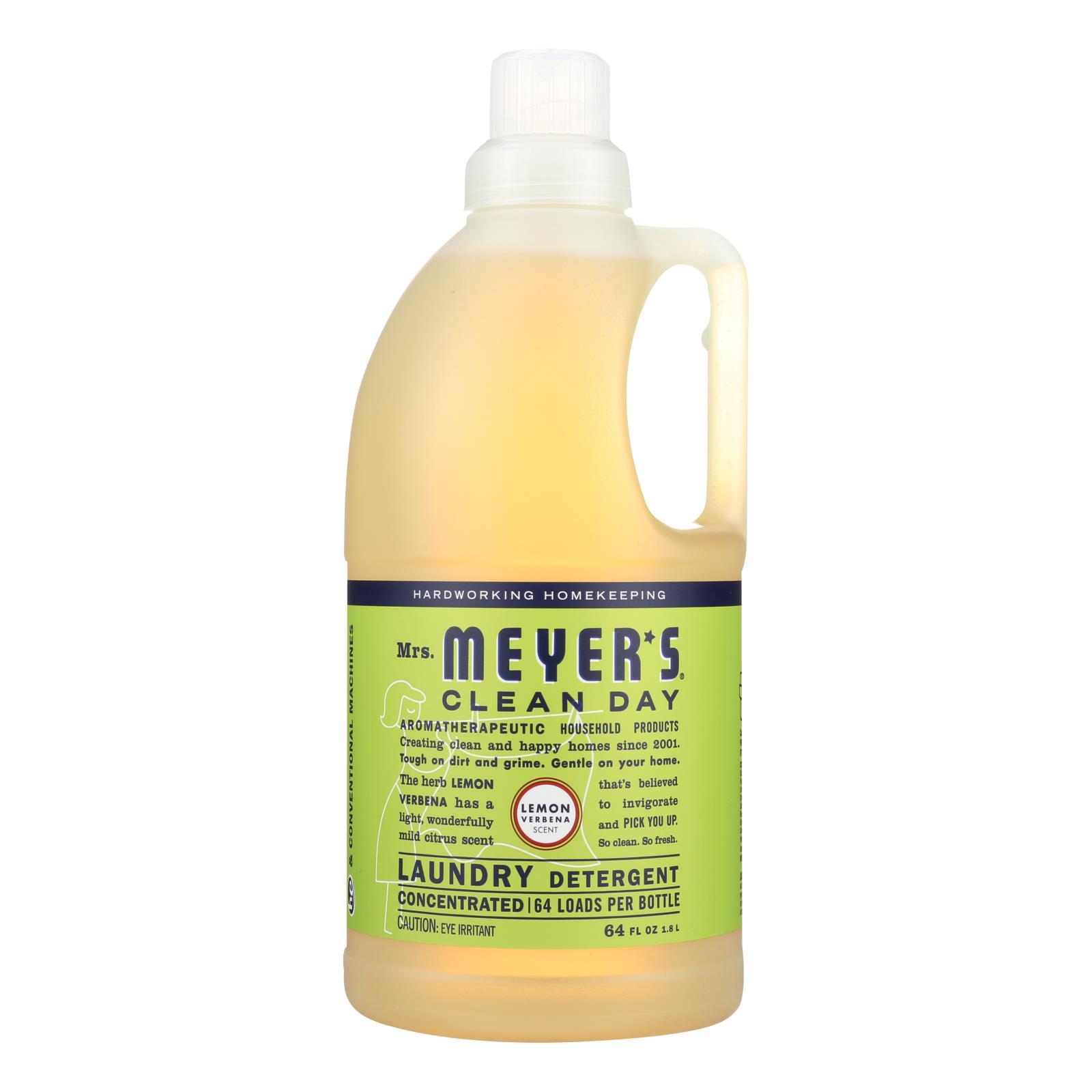 Mrs. Meyer's Clean Day - 2X Laundry Detergent - Lemon Verbana - Case of 6 - 64 oz