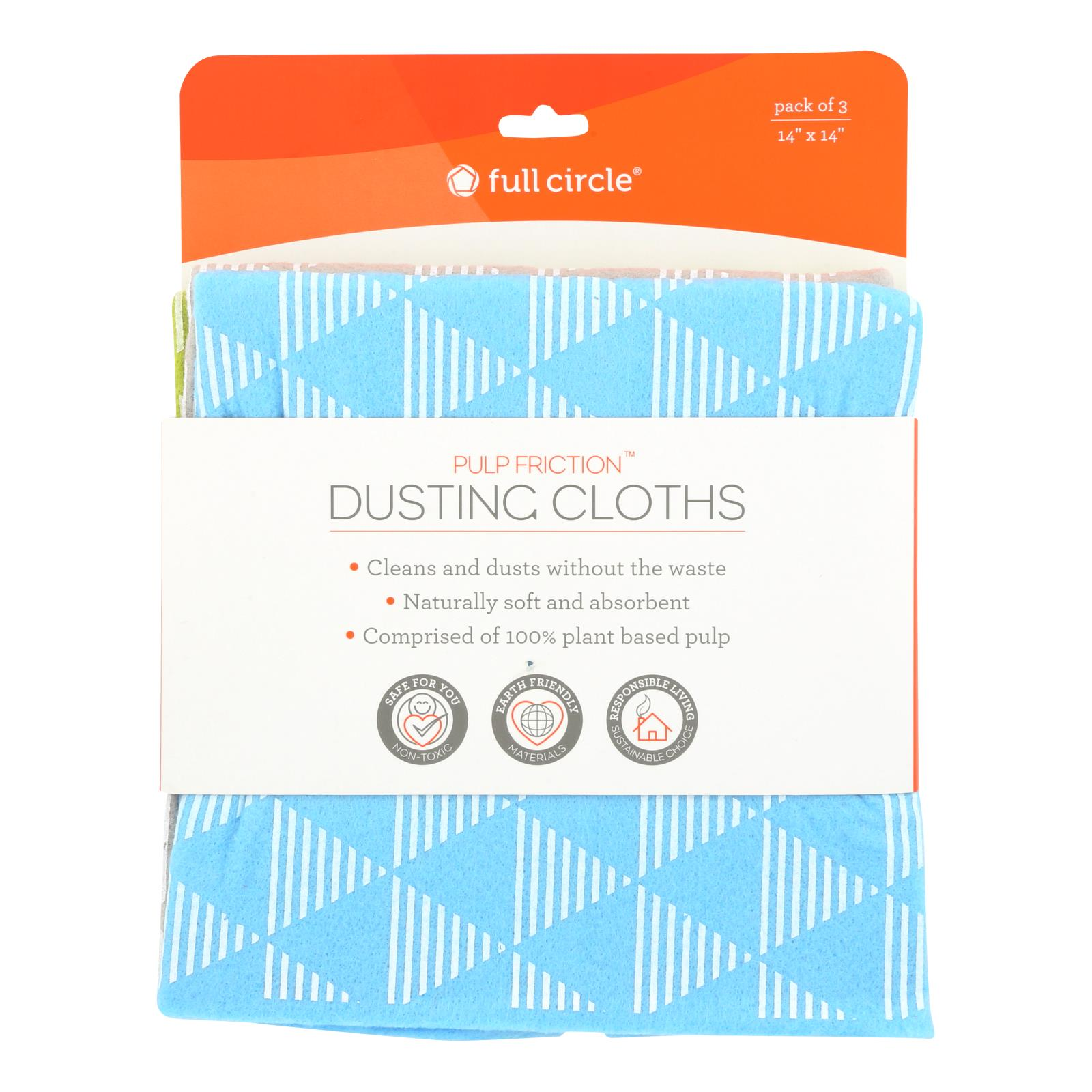 Full Circle Home - Pulp Friction Dust Cloths - Case of 6 - 3 CT