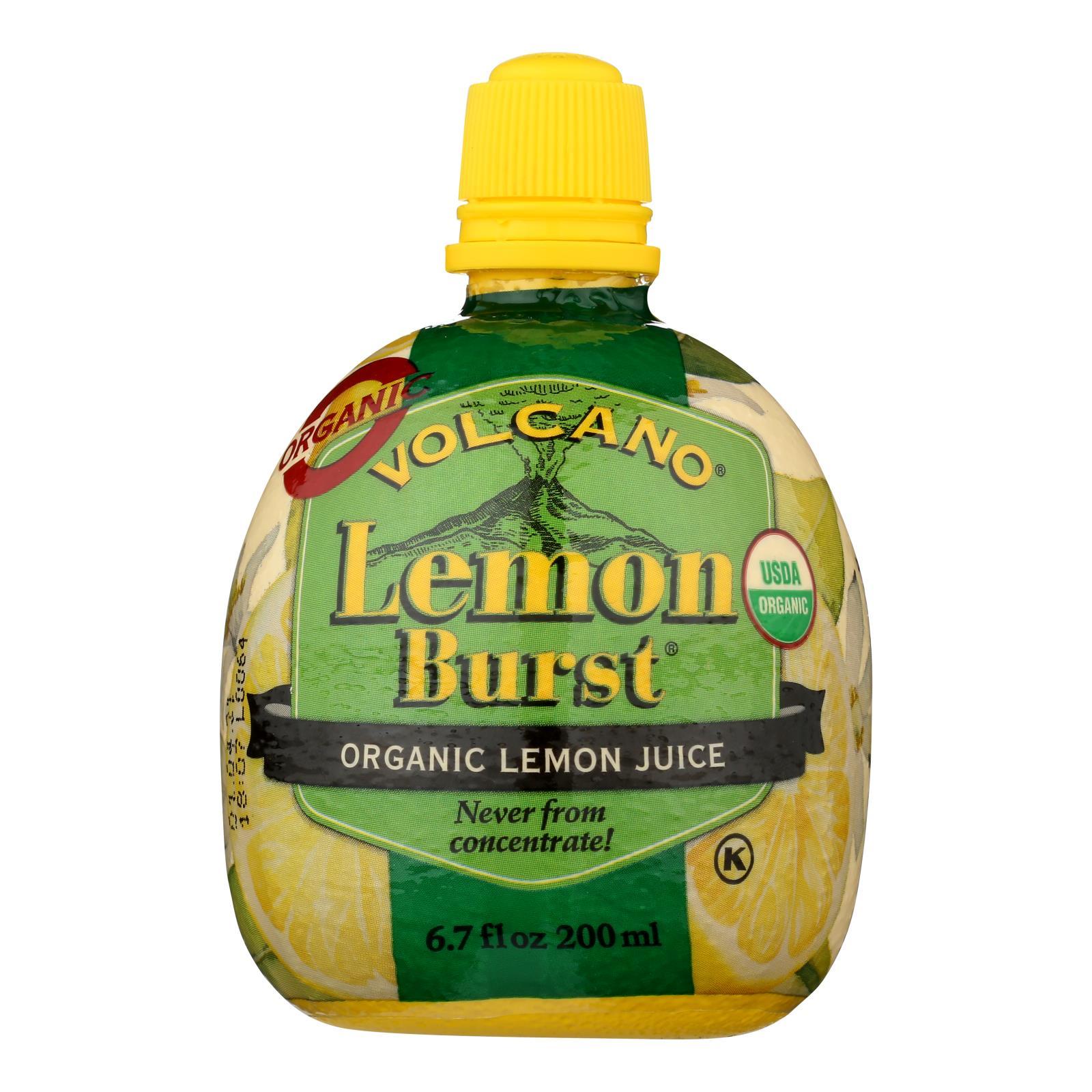 Volcano Lemon Burst Juice  - Case of 12 - 6.7 OZ