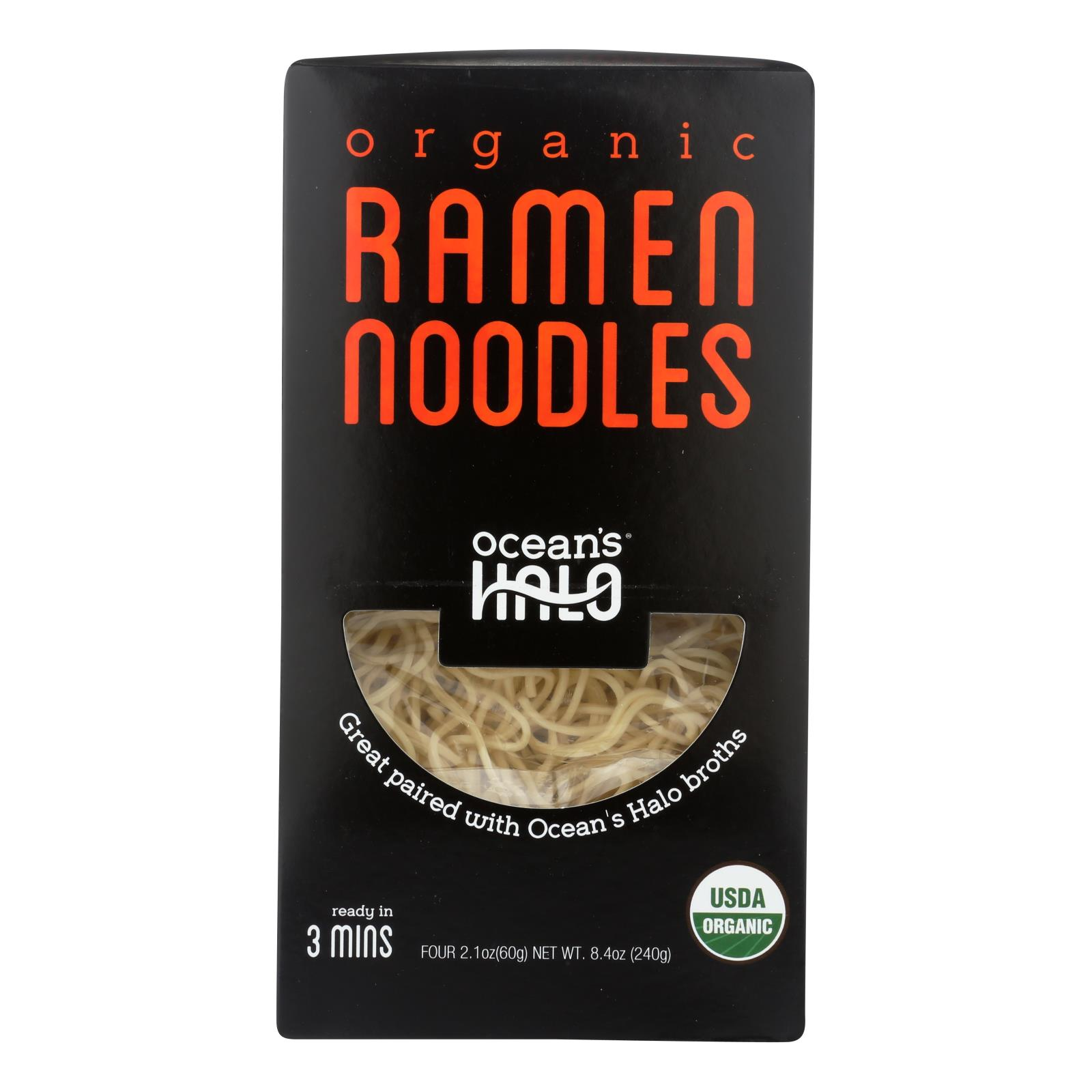 Ocean's Halo Organic Ramen Noodles - Case of 5 - 8.4 OZ