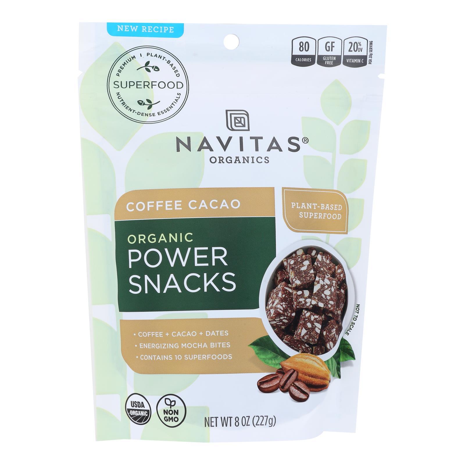 Navitas Naturals Snacks - Organic - Power - Coffee Cacao - 8 oz - case of 12