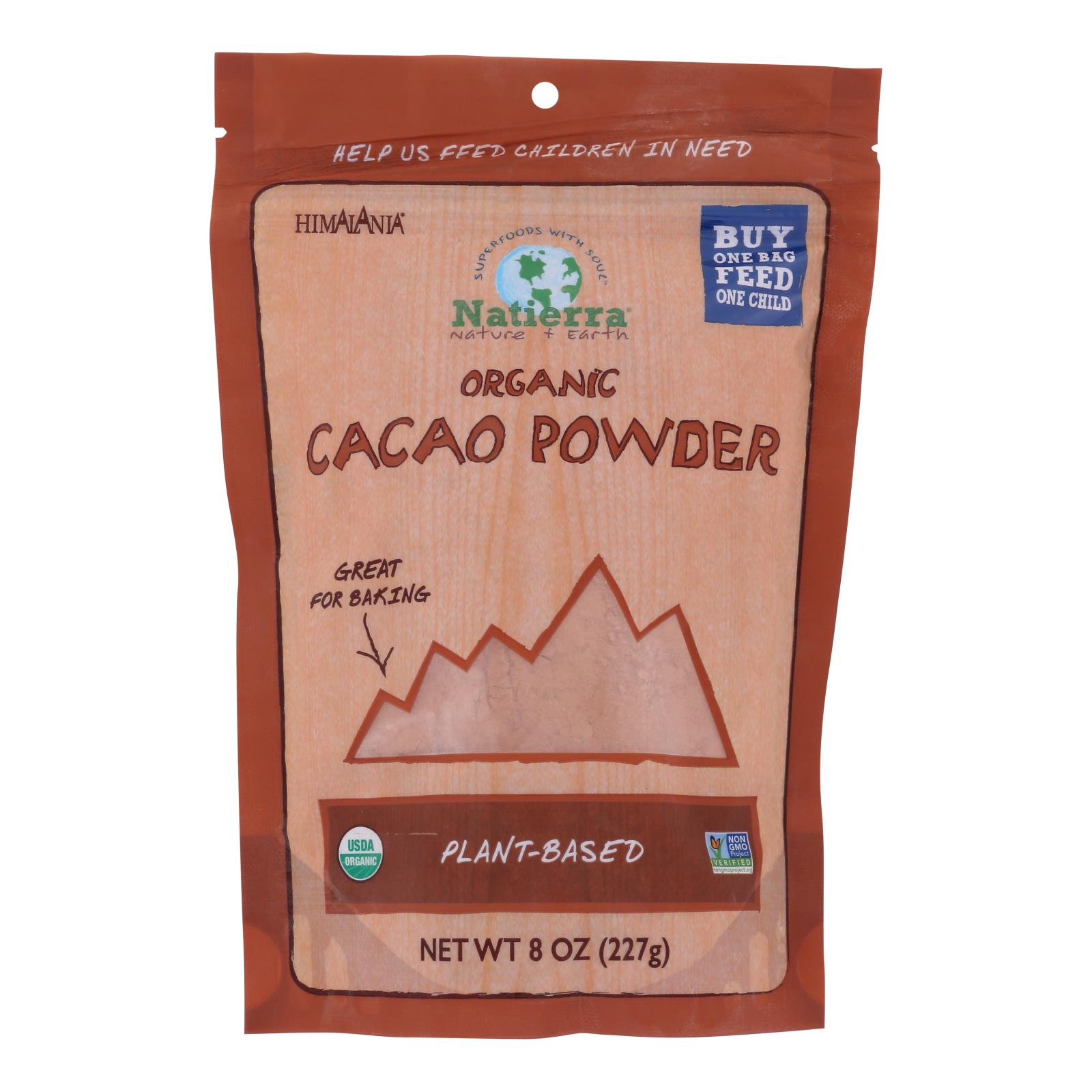 Natierra Organic Cacao Powder - Case of 6 - 8 oz