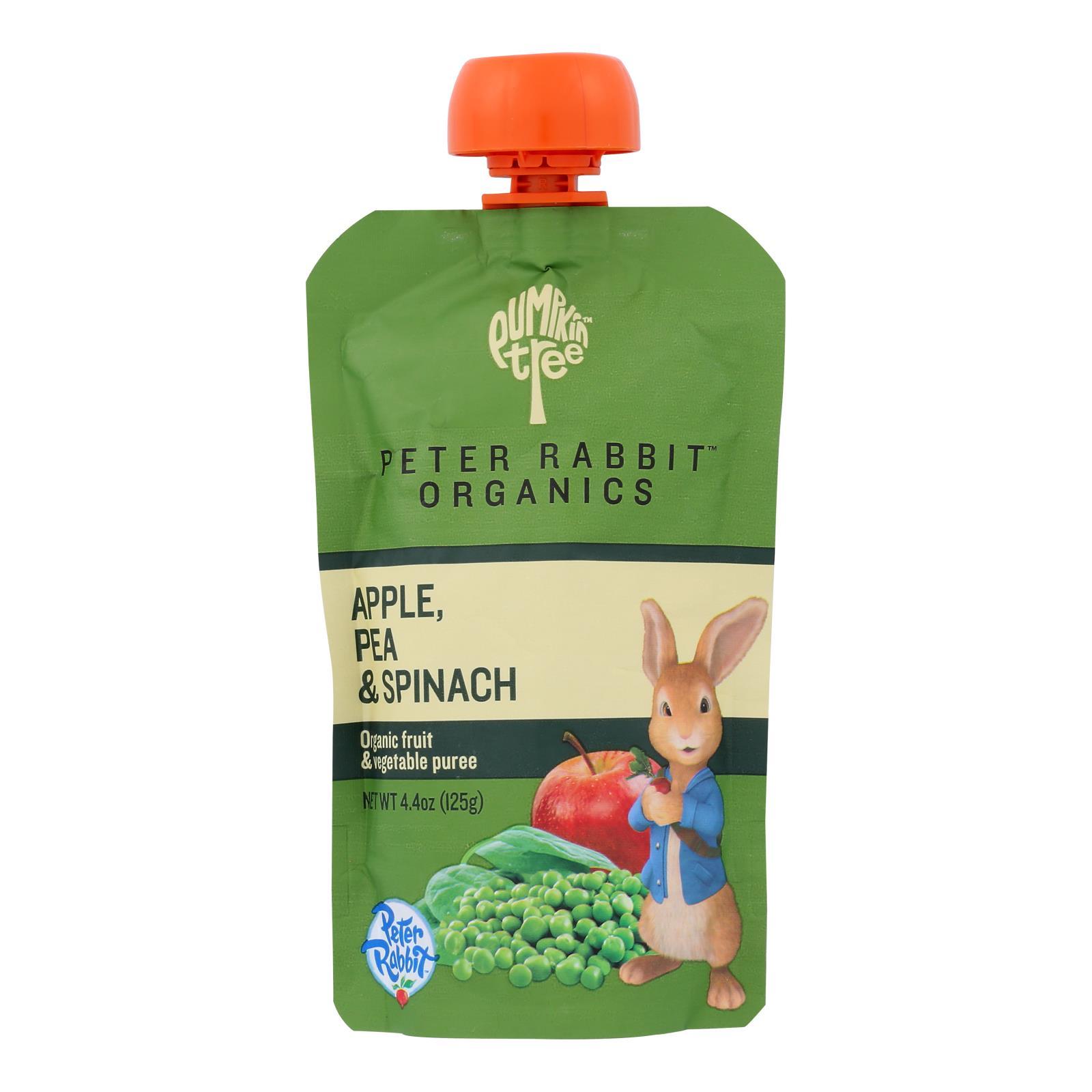 Peter Rabbit Organics Veggie Snacks - Pea Spinach and Apple - Case of 10 - 4.4 oz.