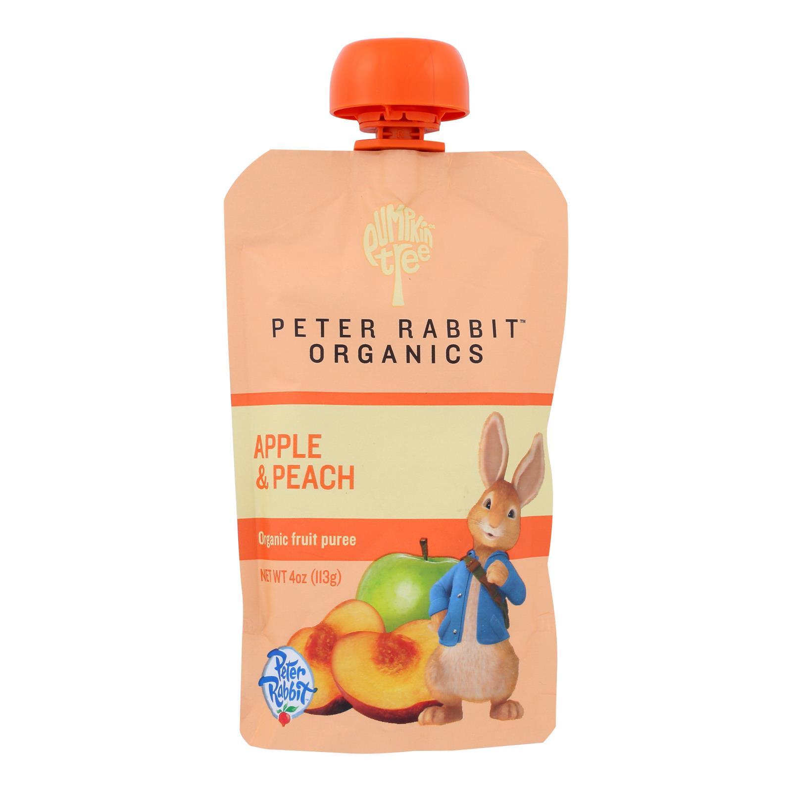 Peter Rabbit Organics Fruit Snacks - Peach and Apple - Case of 10 - 4 oz.