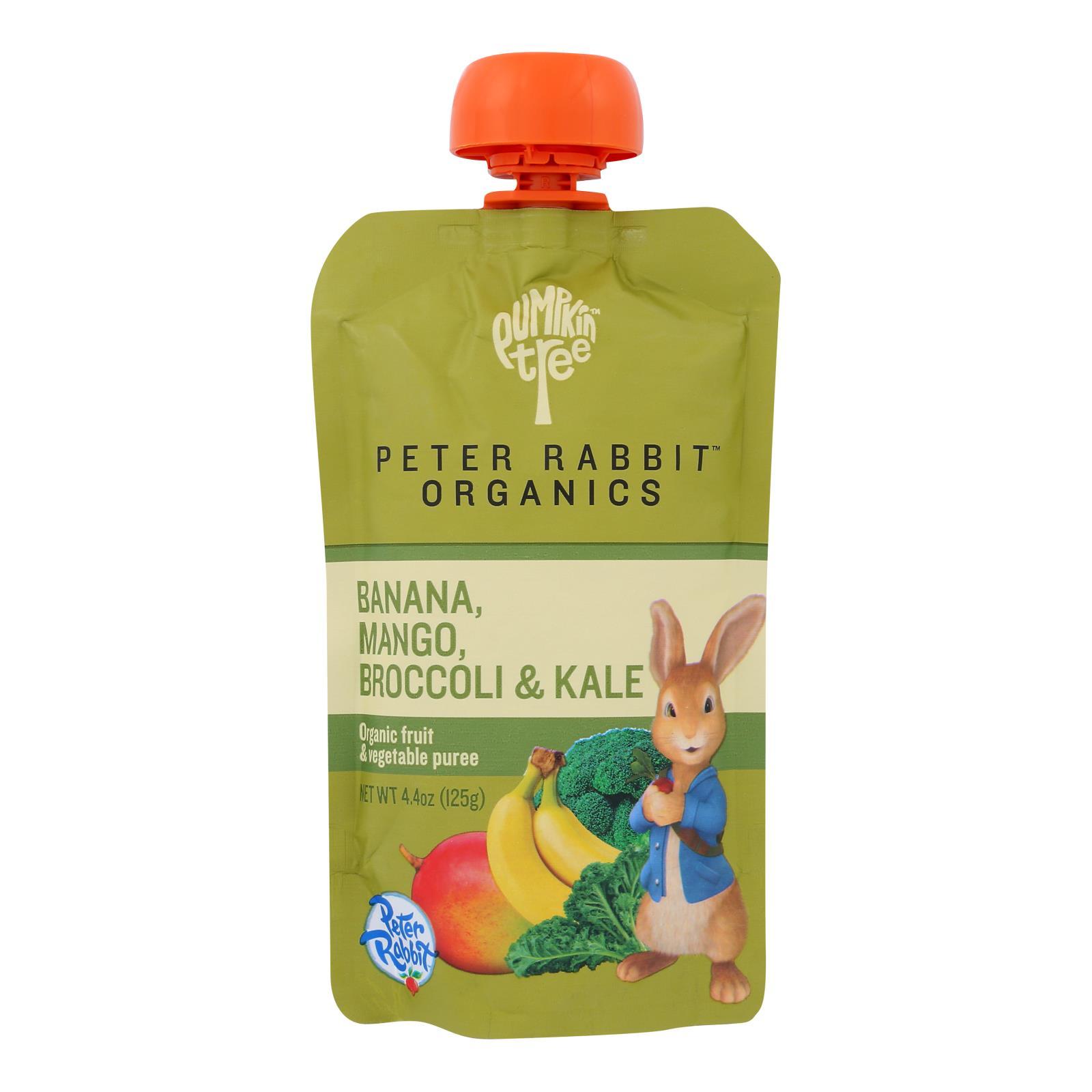 Peter Rabbit Organics Veggie Snacks - Kale Broccoli and Mango with Banana - Case of 10 - 4.4 oz.