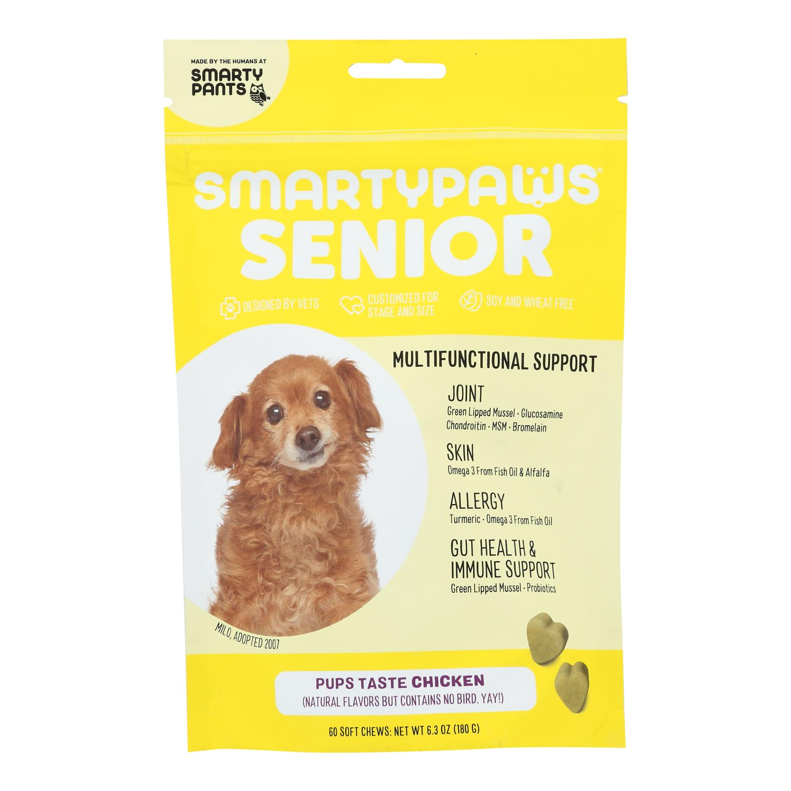 Smartypaws - Senior Frmla Chicken - 1 Each - 60 CT