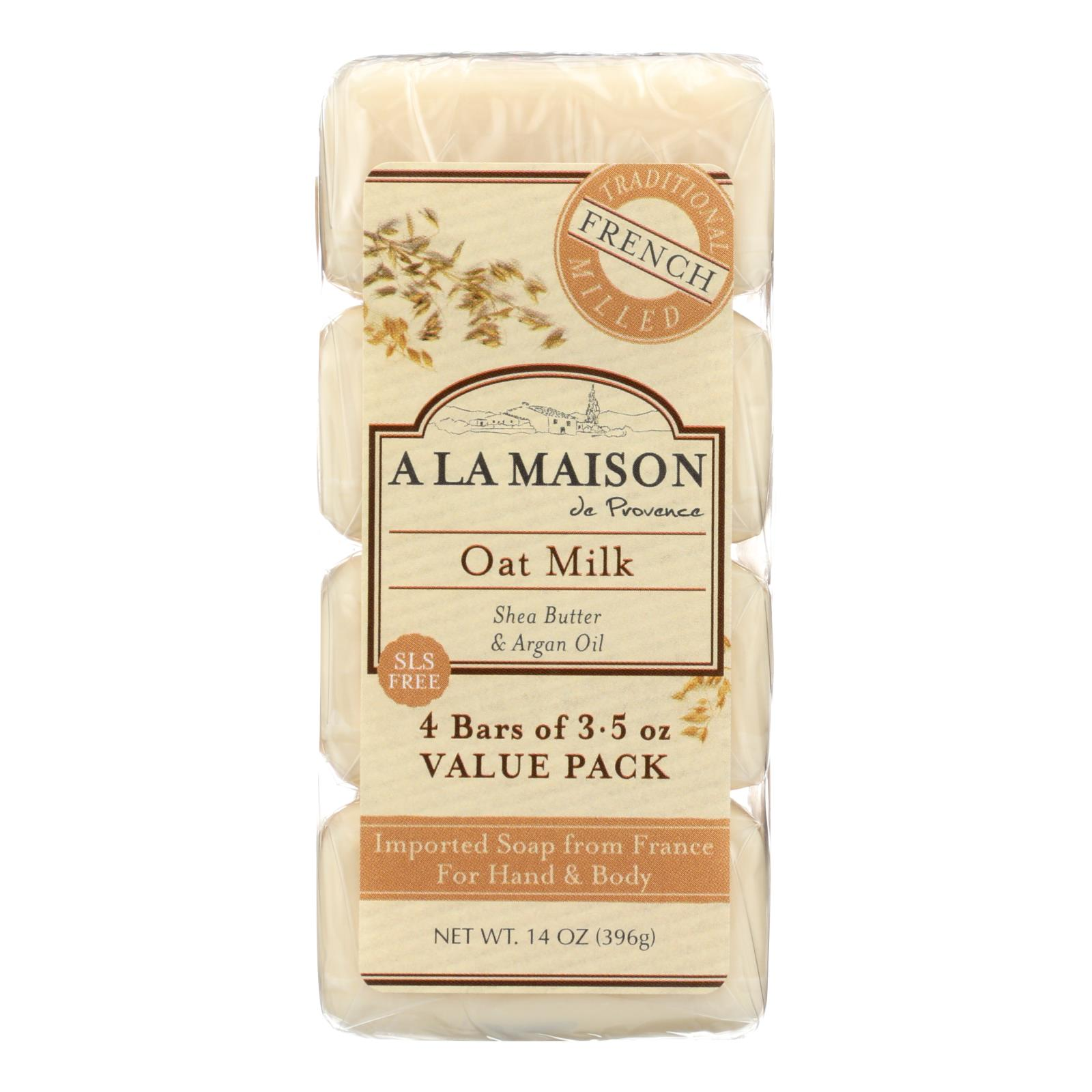 A La Maison - Bar Soap - Oat Milk - Value 4 Pack