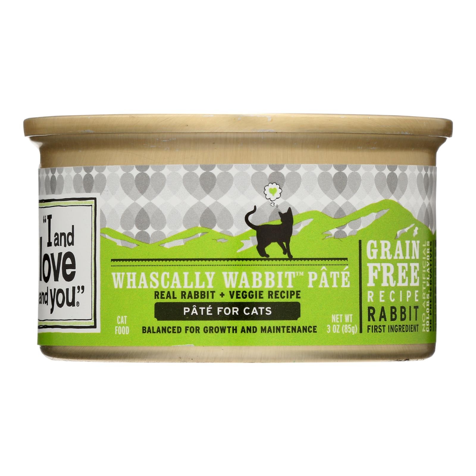 I and Love and You Canned Cat Food - Wabbit Pate - Case of 24 - 3 oz