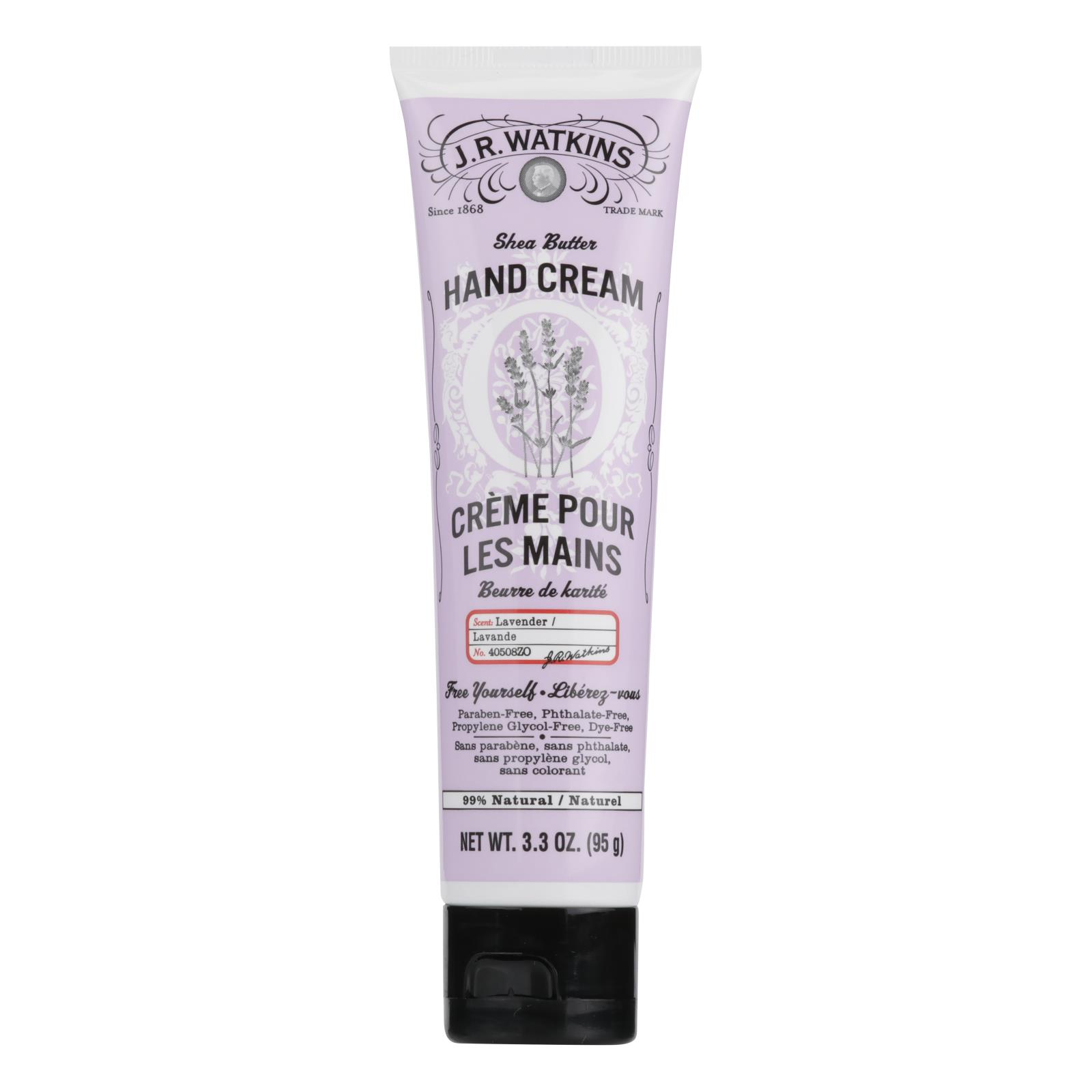J.R. Watkins Body Cream Lavender - 3.3 oz