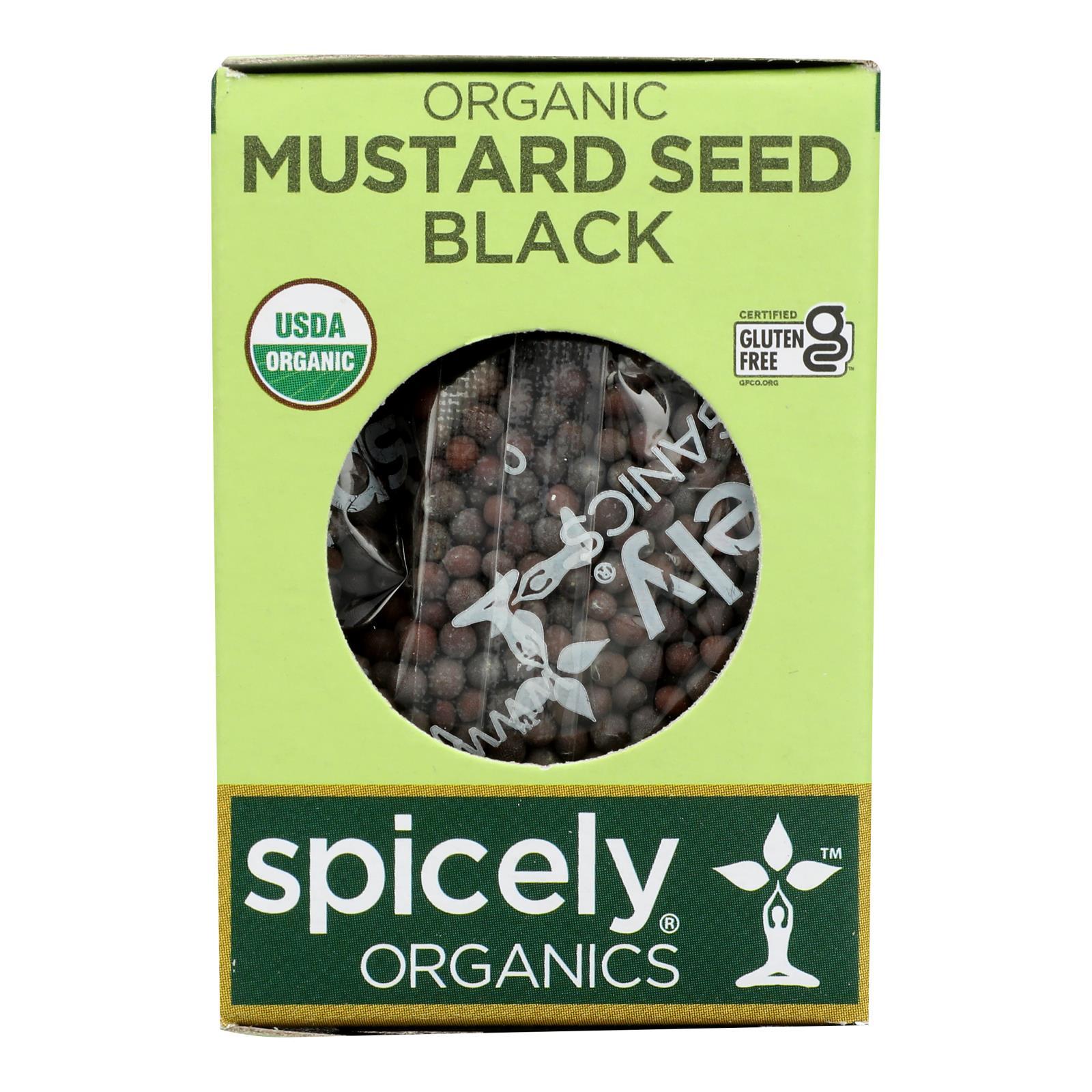 Spicely Organics - Organic Mustard Seed - Black - Case of 6 - 0.5 oz.