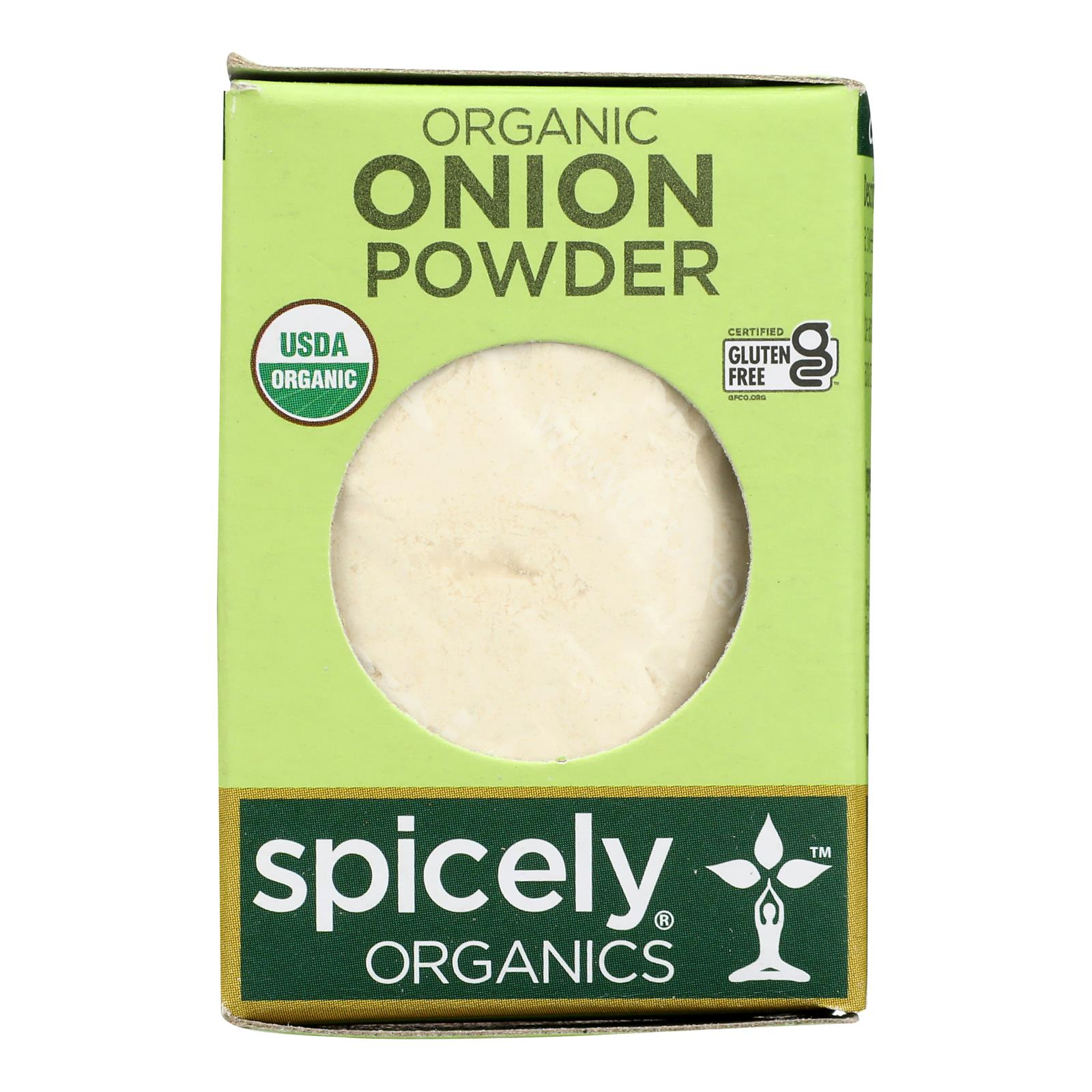Spicely Organics - Organic Onion Powder - Case of 6 - 0.4 oz.