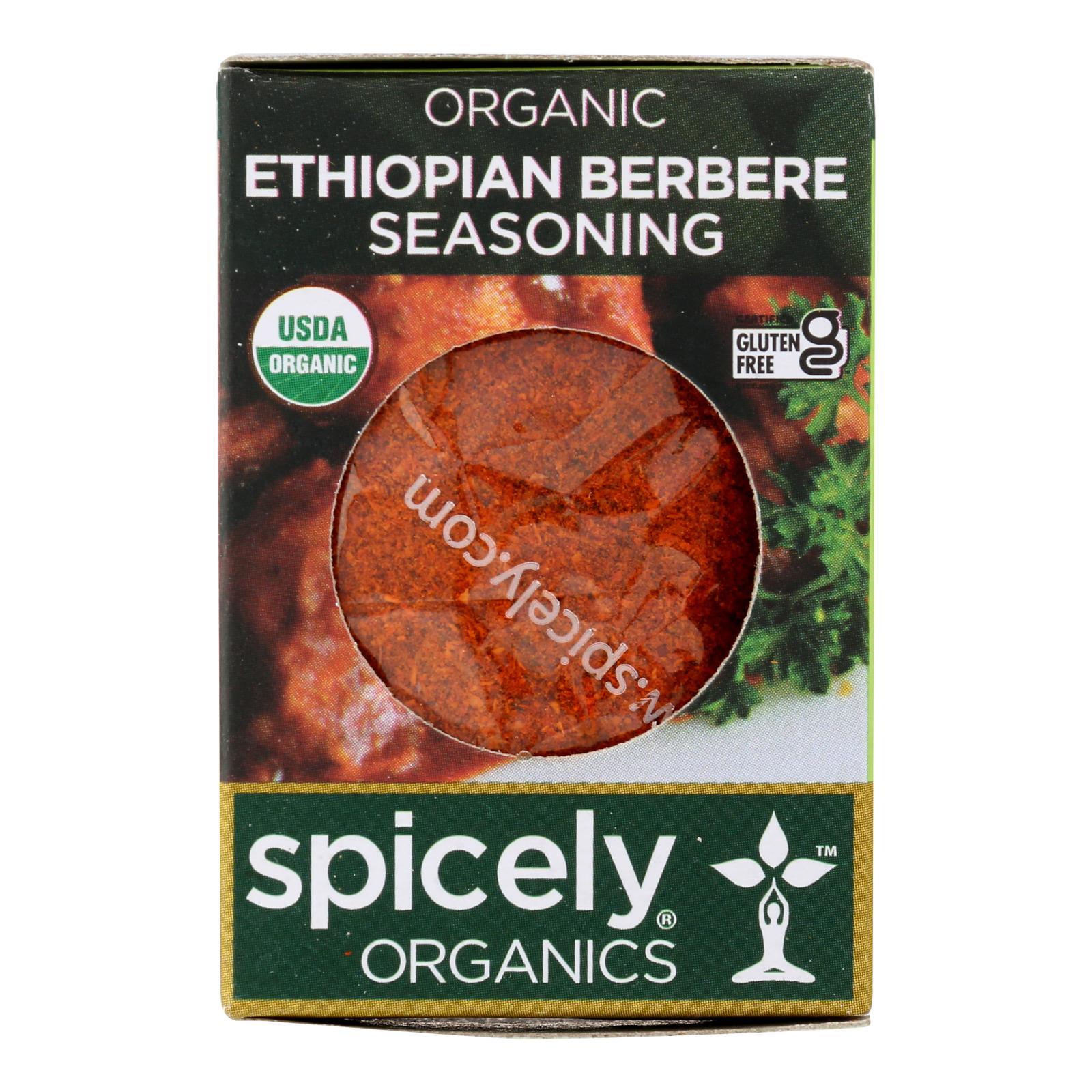 Spicely Organics - Organic Ethiopian Berbere Seasoning - Case of 6 - 0.4 oz.