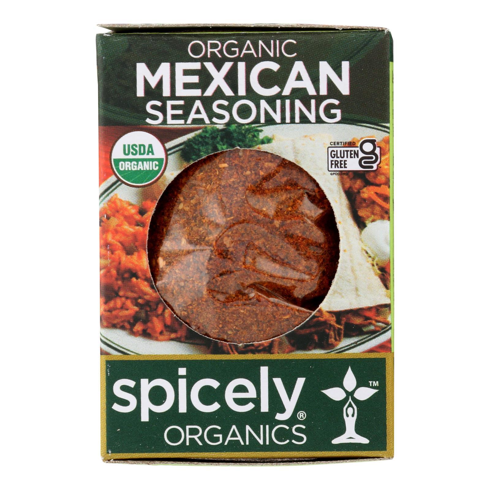 Spicely Organics - Organic Mexican Seasoning - Case of 6 - 0.5 oz.