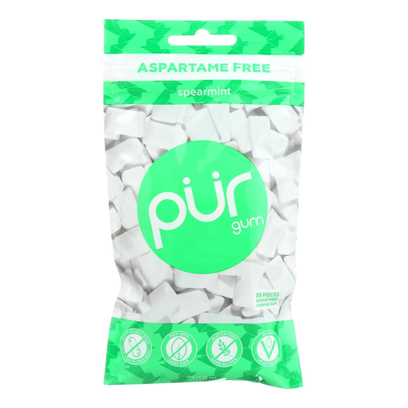 Pur Spearmint Gum  - Case of 12 - 2.72 OZ