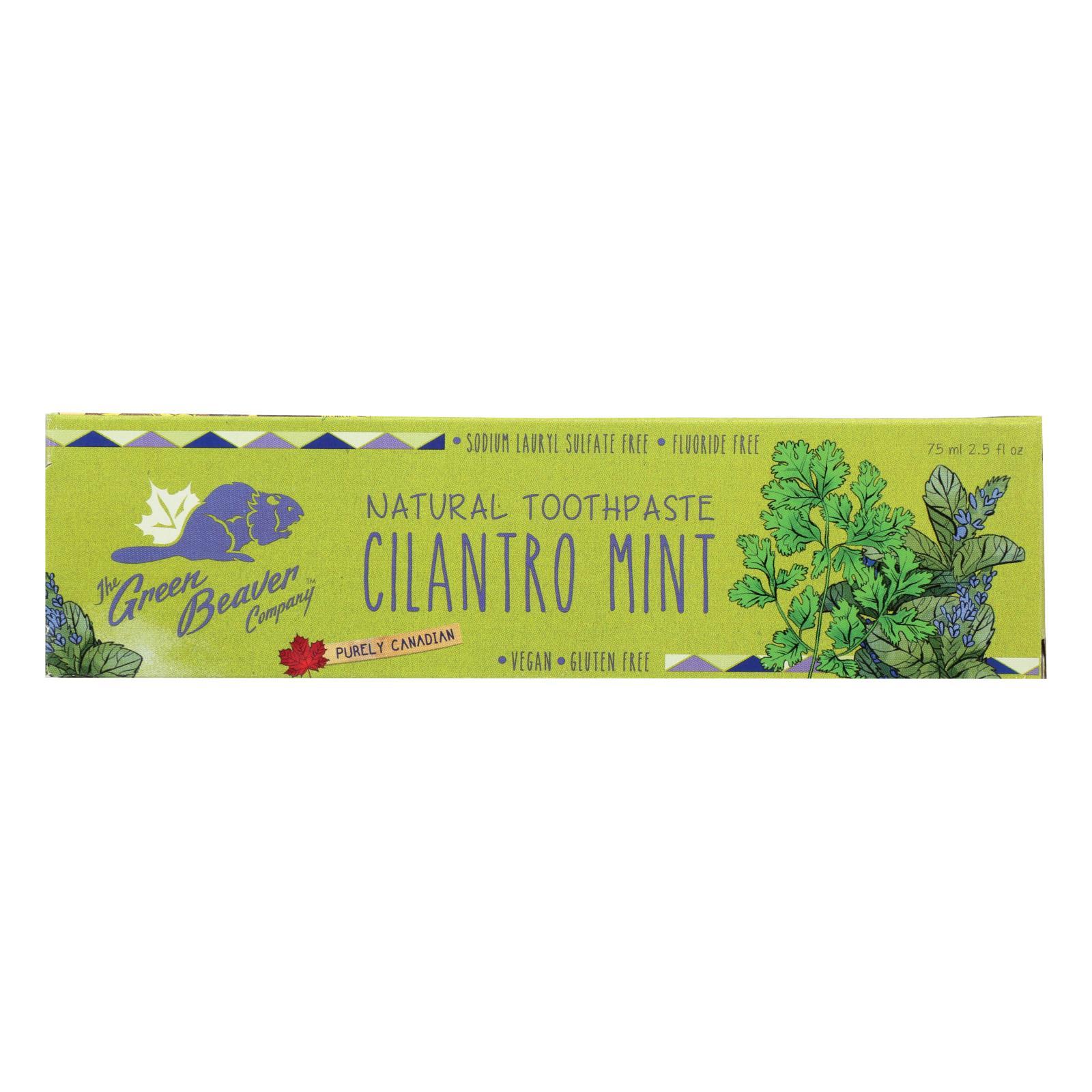 Green BeaverThe Toothpaste - Cilantro Mint Toothpaste - Case of 1 - 2.5 fl oz.