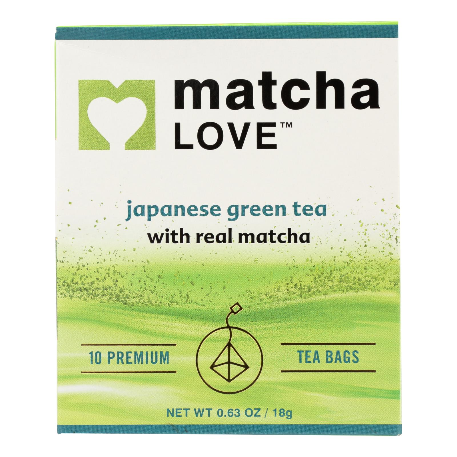 Matcha Love In Matcha Green Tea Traditional Flavor  - Case of 6 - 10 BAGS