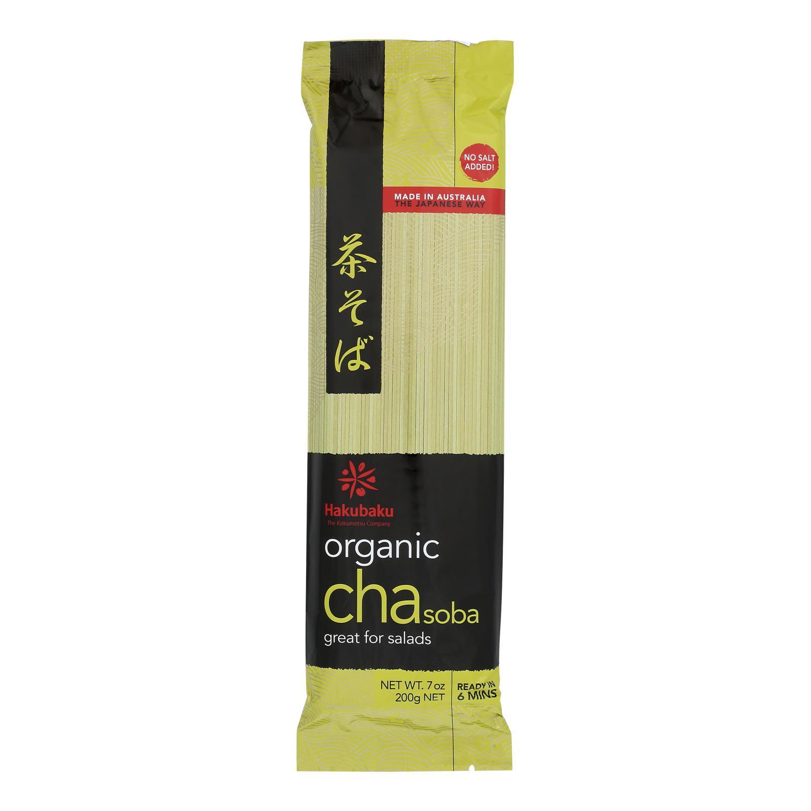 Hakubaku 100% Organic Noodles - Soba Green Tea - Case of 10 - 7.05 oz