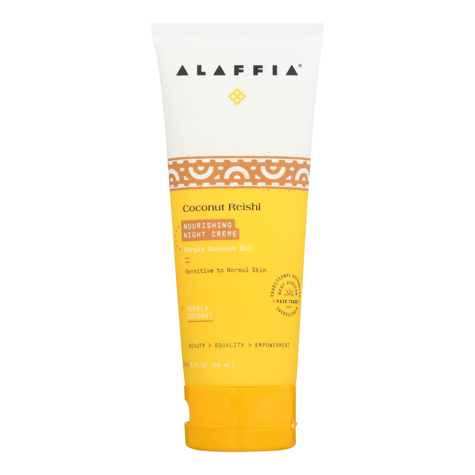 Alaffia - Night Cream - Coconut Reishi - 3 fl oz.