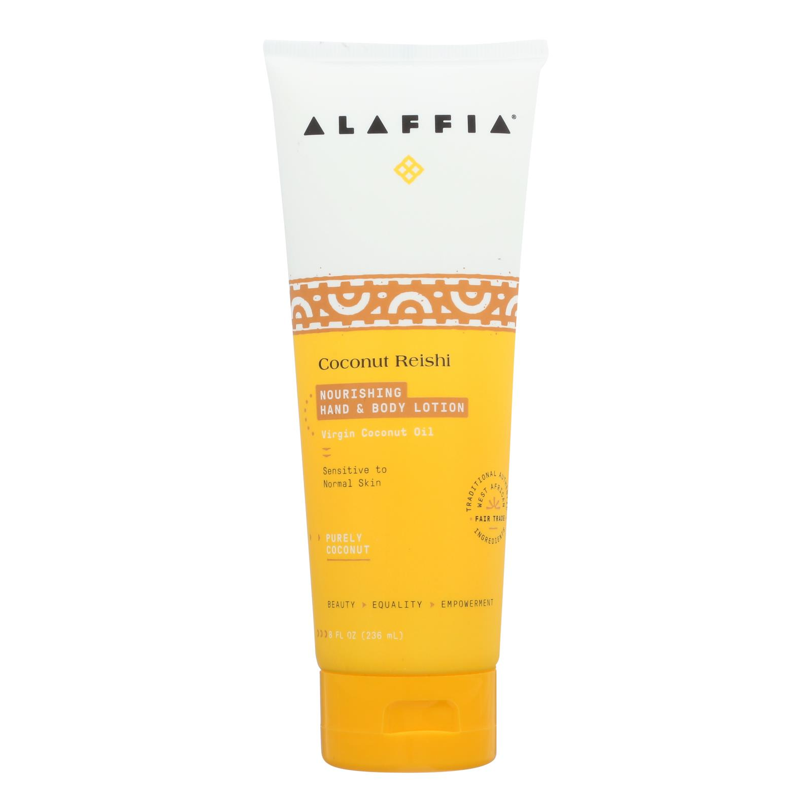 Alaffia - Hand and Body Lotion - Coconut Reishi - 8 fl oz.