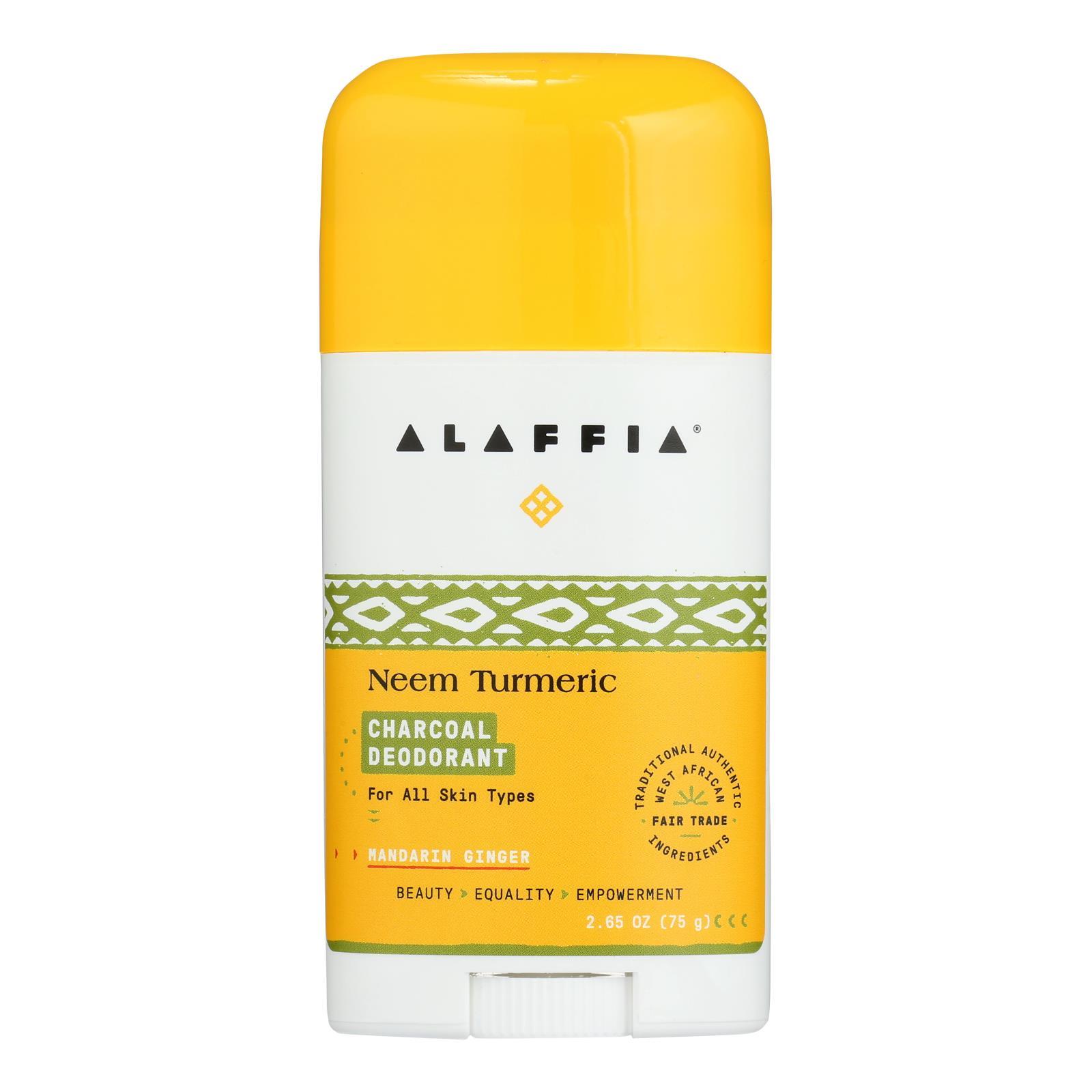 Alaffia - Deodorant Turmrc Mndrn/chrcoal - 1 Each - 2.65 OZ