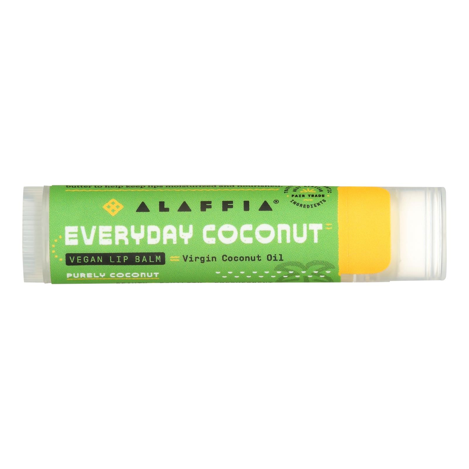 Everyday Coconut Purely Coconut Lip Balm  - Case of 24 - .15 OZ