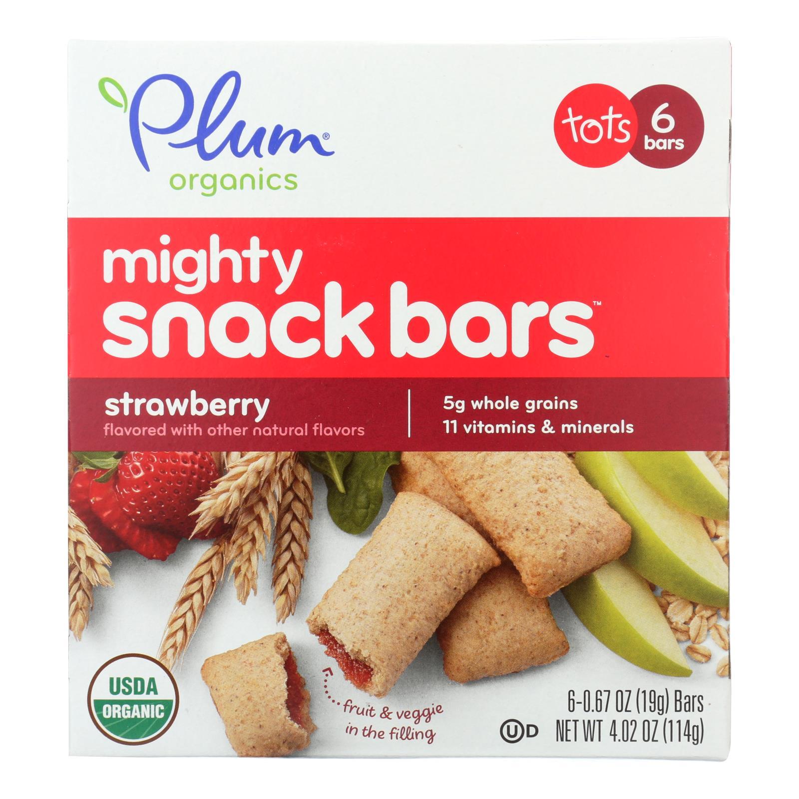 Plum Organics Plum Tots Bars Tots Snacks Strawberry Spinach - Case of 8 - 6/.67 OZ