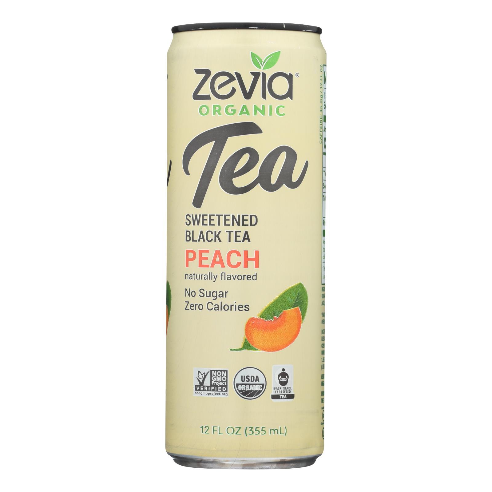 Zevia - Tea Black Peach - Case of 12 - 12 FZ