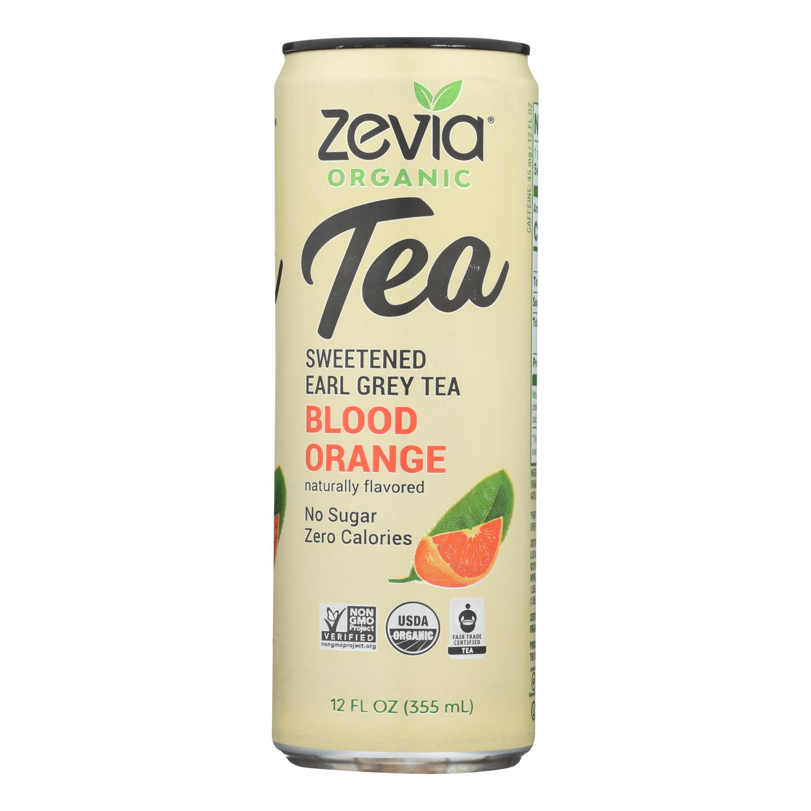 Zevia - Tea Erl Gry Bld Orange - Case of 12 - 12 FZ