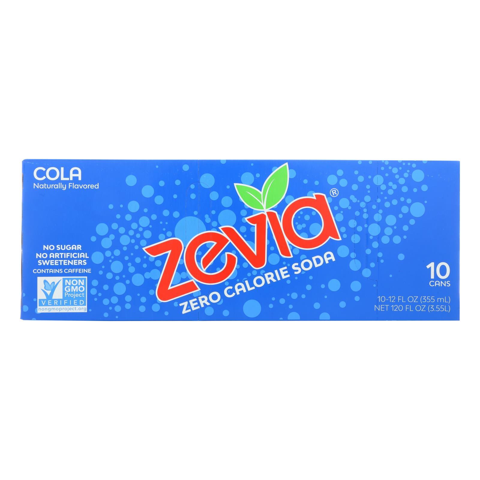 Zevia Zero Calorie Soda - Cola - Case of 2 - 12 Fl oz.