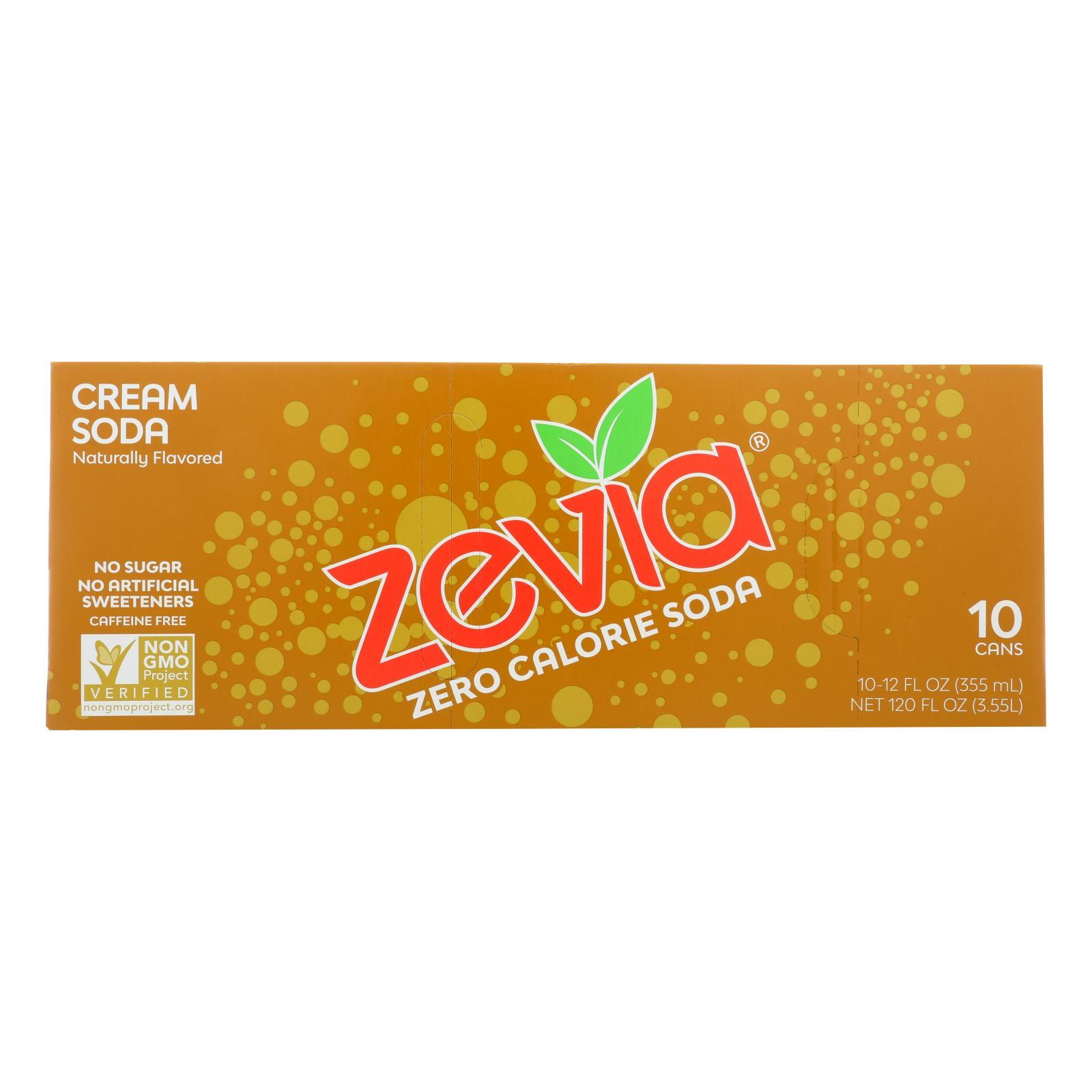 Zevia Zero Calorie Soda - Cream Soda - Case of 2 - 12 Fl oz.