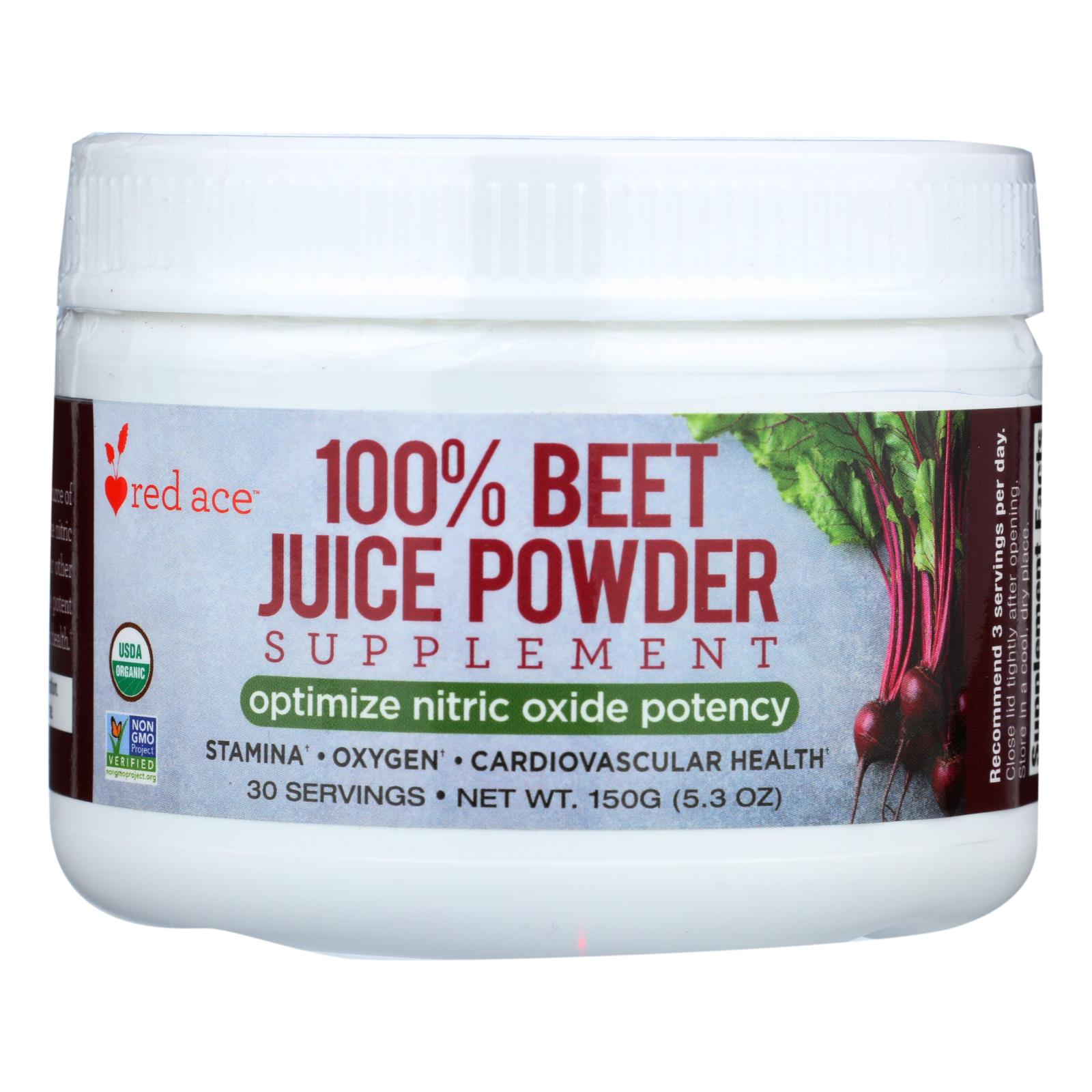 Red Ace Beet Juice - Organic - Powder - Case of 6 - 150 GRM