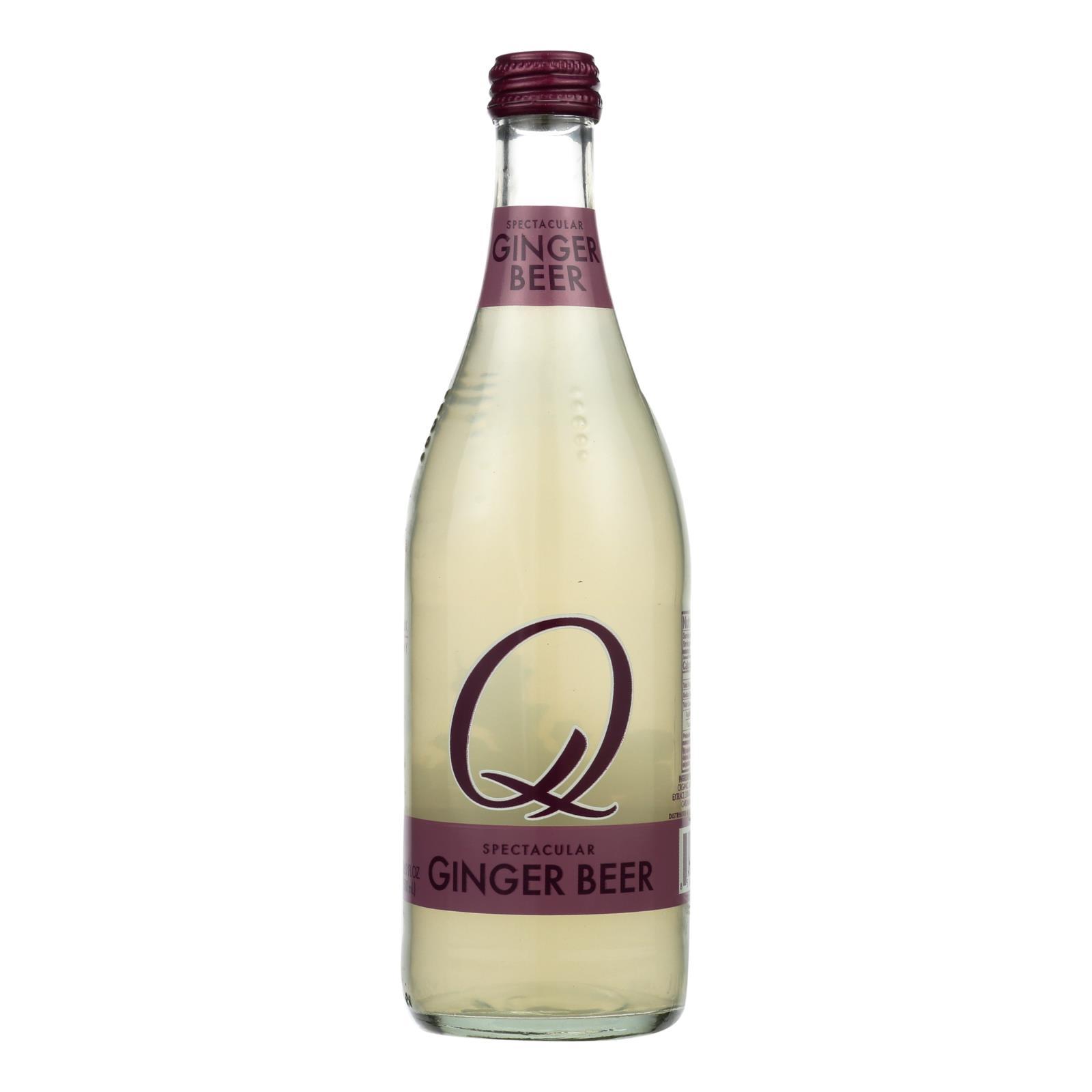 Q Drinks Ginger Beer - Case of 6 - 16.9 fl oz