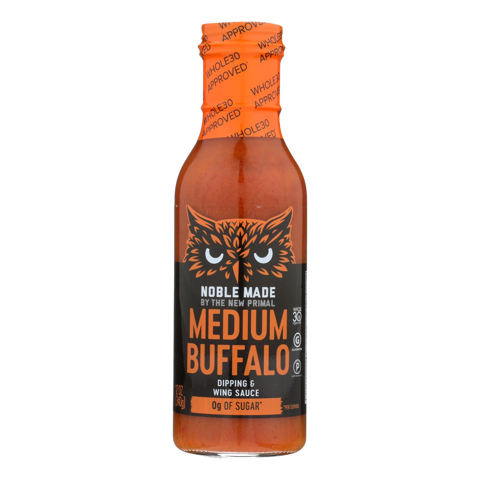 Noble Made By The New Primal Medium Buffalo Dipping & Wing Sauce - Case of 6 - 12 OZ