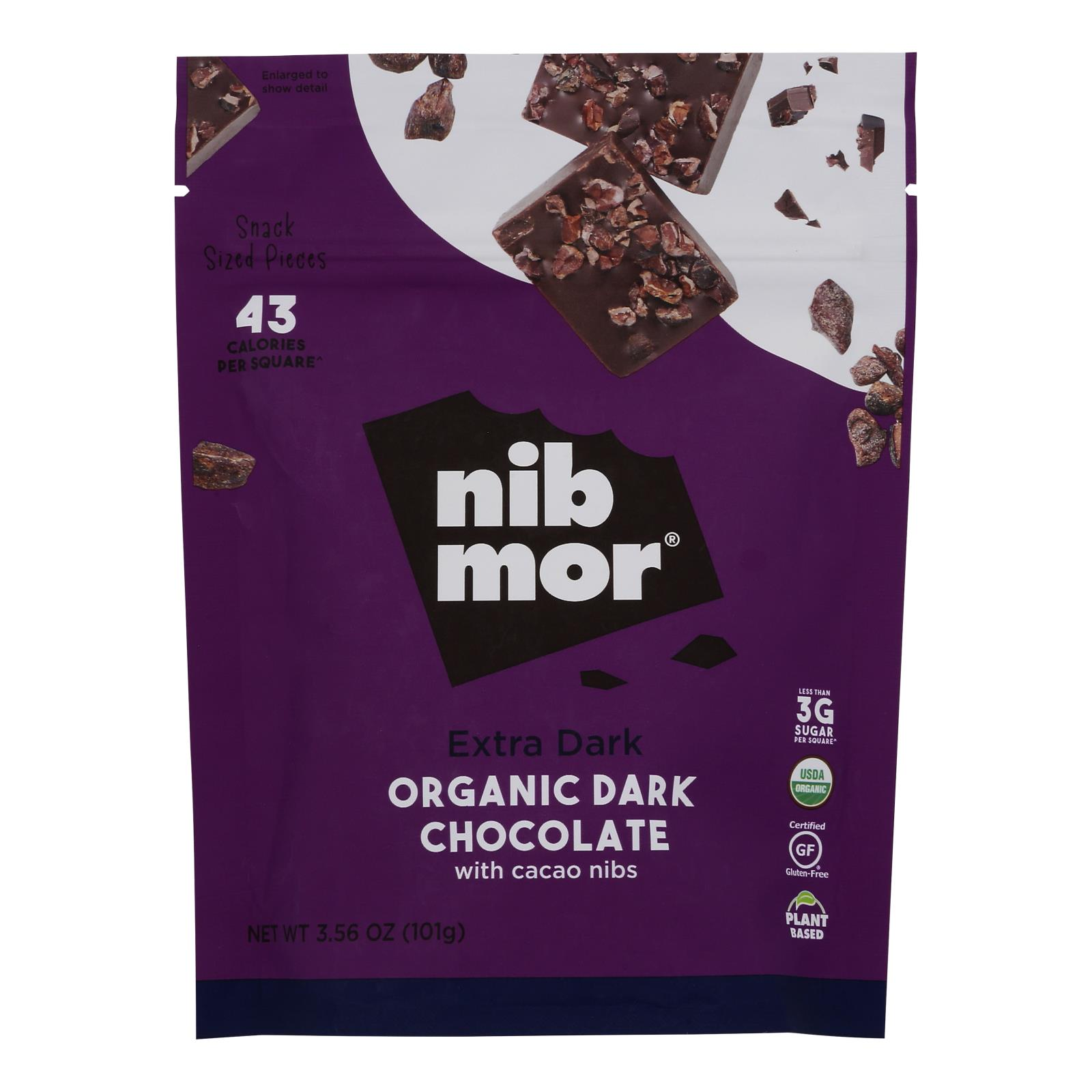 Nibmor - Dark Chocolate Extrm 80% - Case of 6 - 3.55 OZ